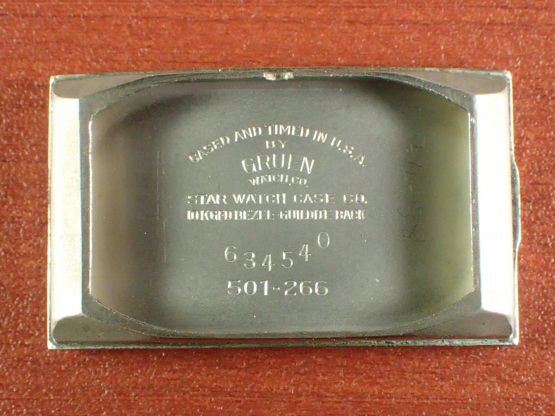 グリュエン 10KYGF/SS レクタンギュラー Cal.500 ブレゲインデックス 1930年代の写真6枚目