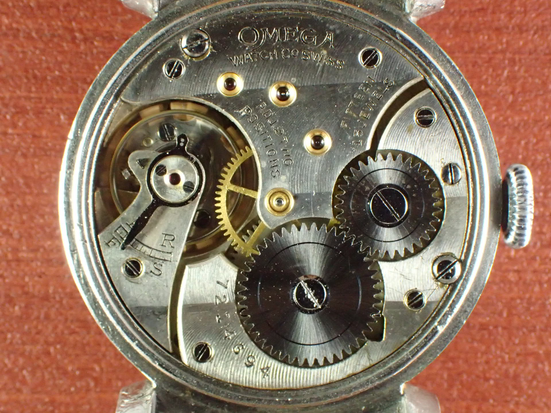 オメガ ポーセリンダイアル スモールセコンド Cal.26.5 SOB 1930年代の写真5枚目