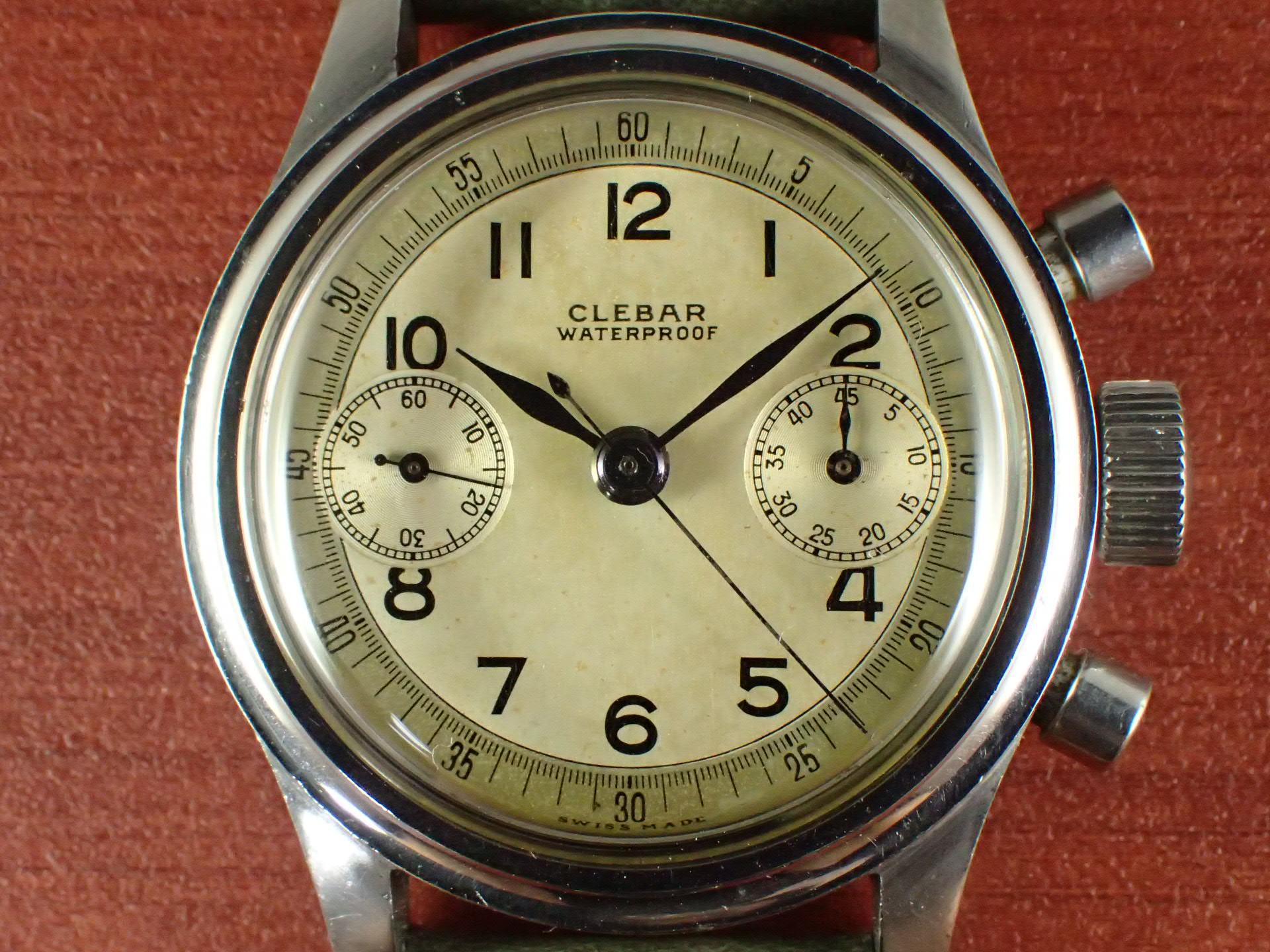 クレバー クロノグラフ クラムシェル Cal.ヴィーナス150 1940年代の写真2枚目