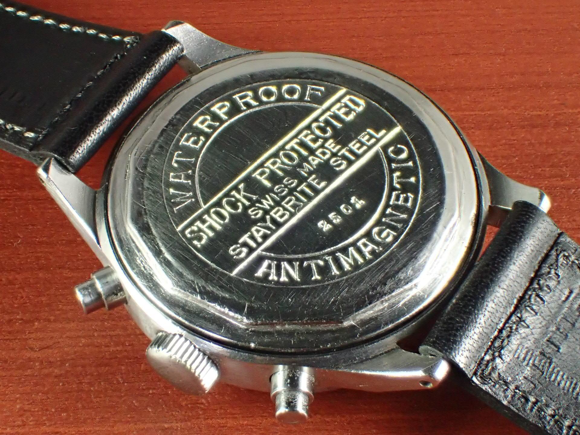 ヒューゲックス Cal.Valjoux22 スピルマンケース インバースプッシャー 1940年代の写真4枚目