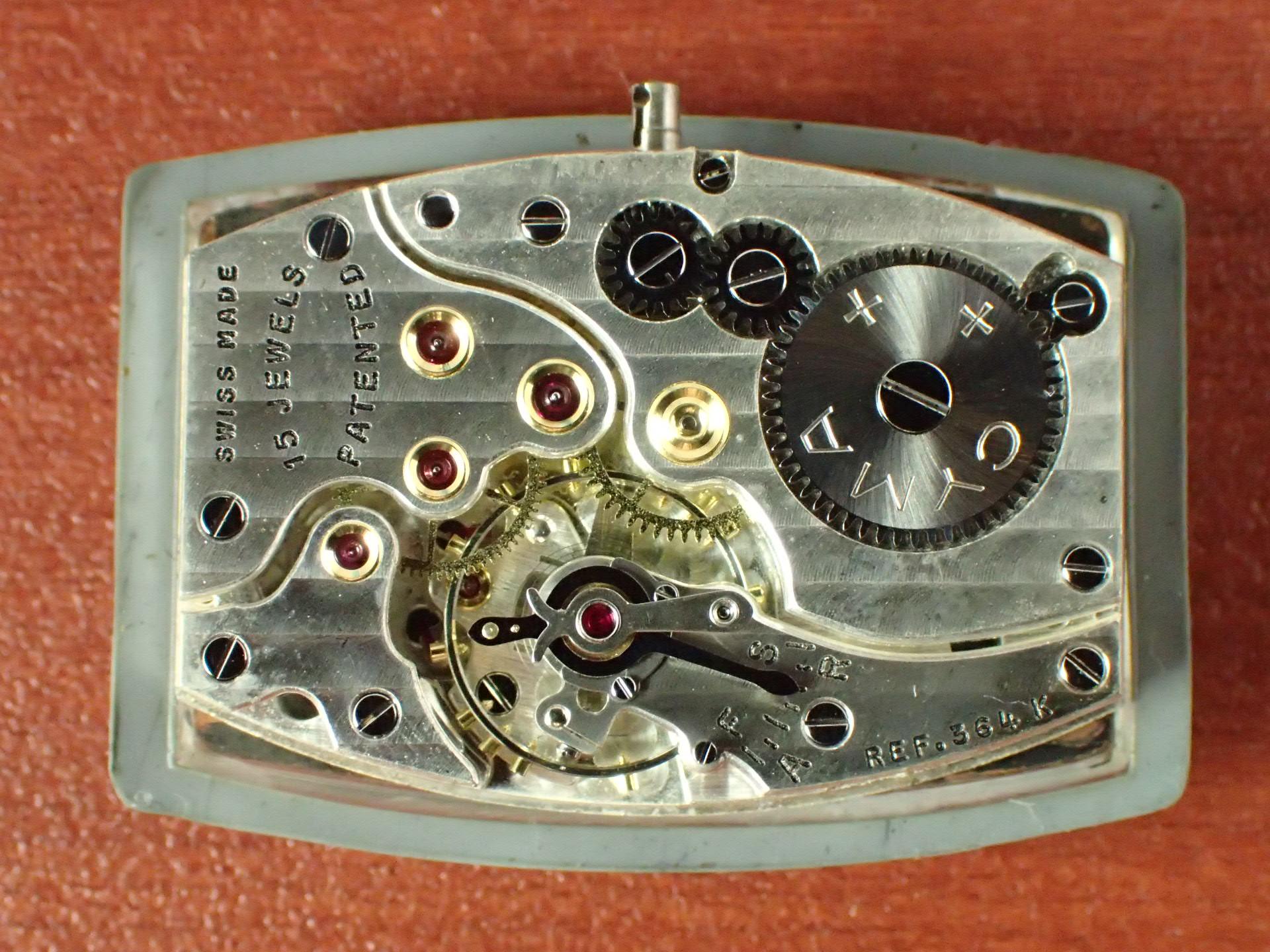 シーマ クラムシェル トノーケース 2トーンダイアル N.O.S. 1940年代の写真5枚目