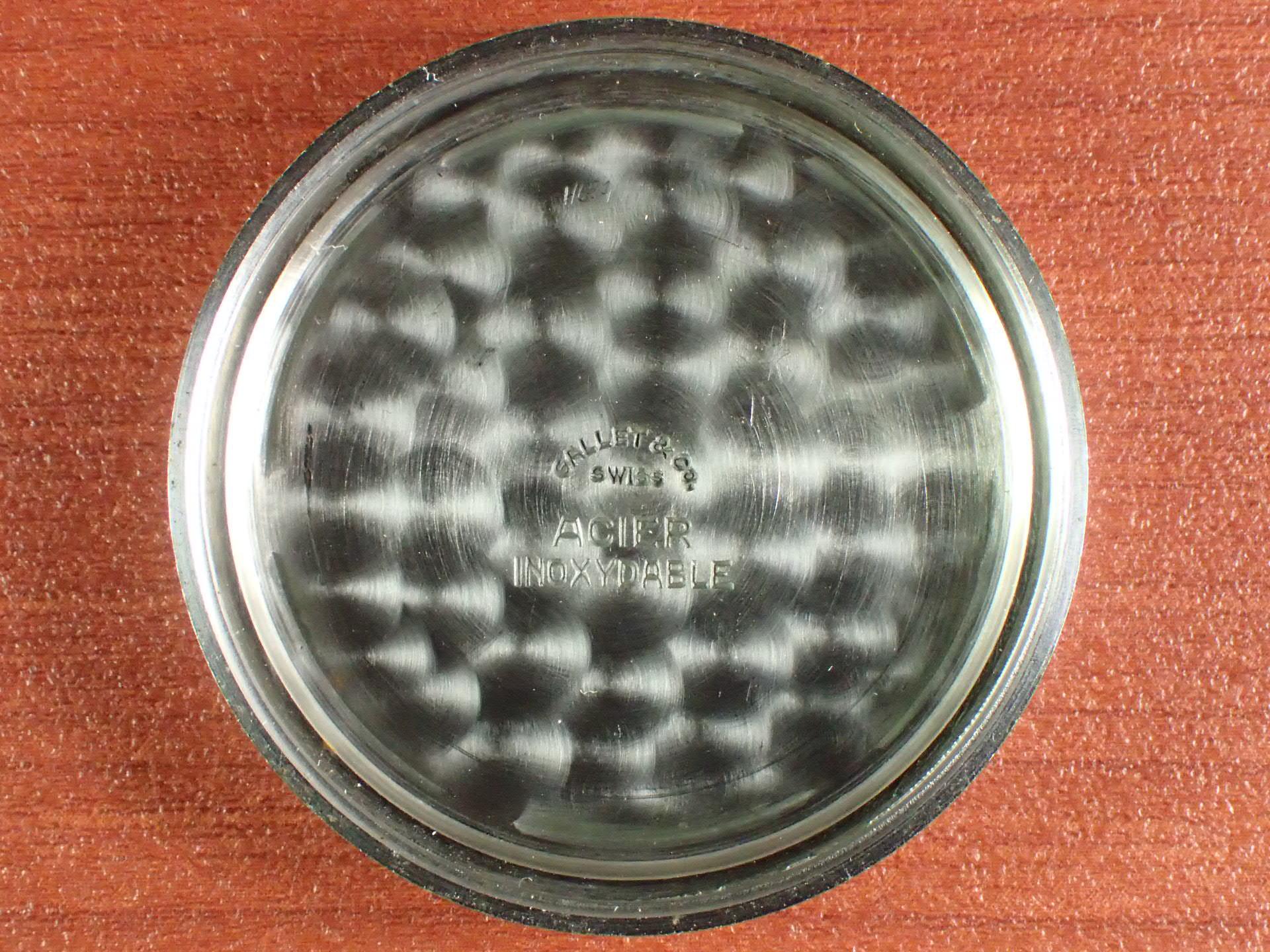 ギャレット クロノグラフ Cal.エクセルシオパーク4 スパイラルタキ 1940年代の写真6枚目
