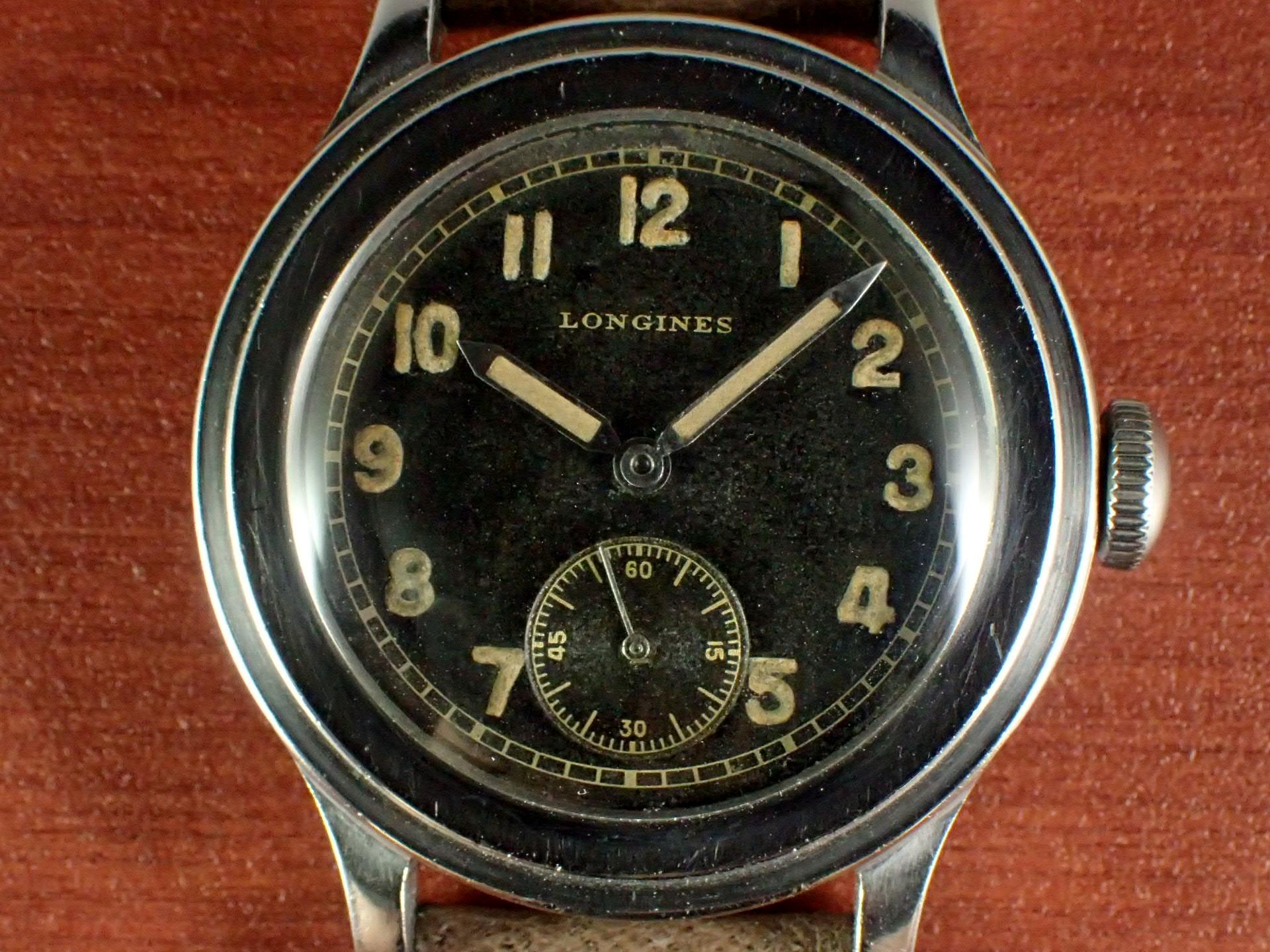 ロンジン 35mmワイドステップベゼル トレタケ ブラックダイアル 1940年代の写真2枚目