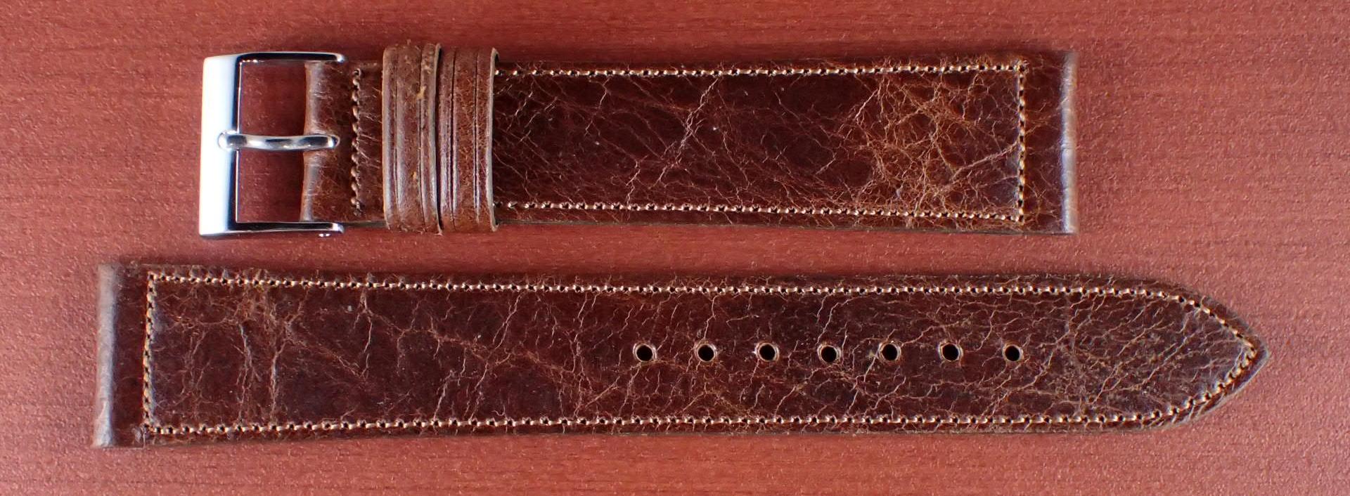 ヴィンテージレザー 牛革ベルト ブラウン 16mm