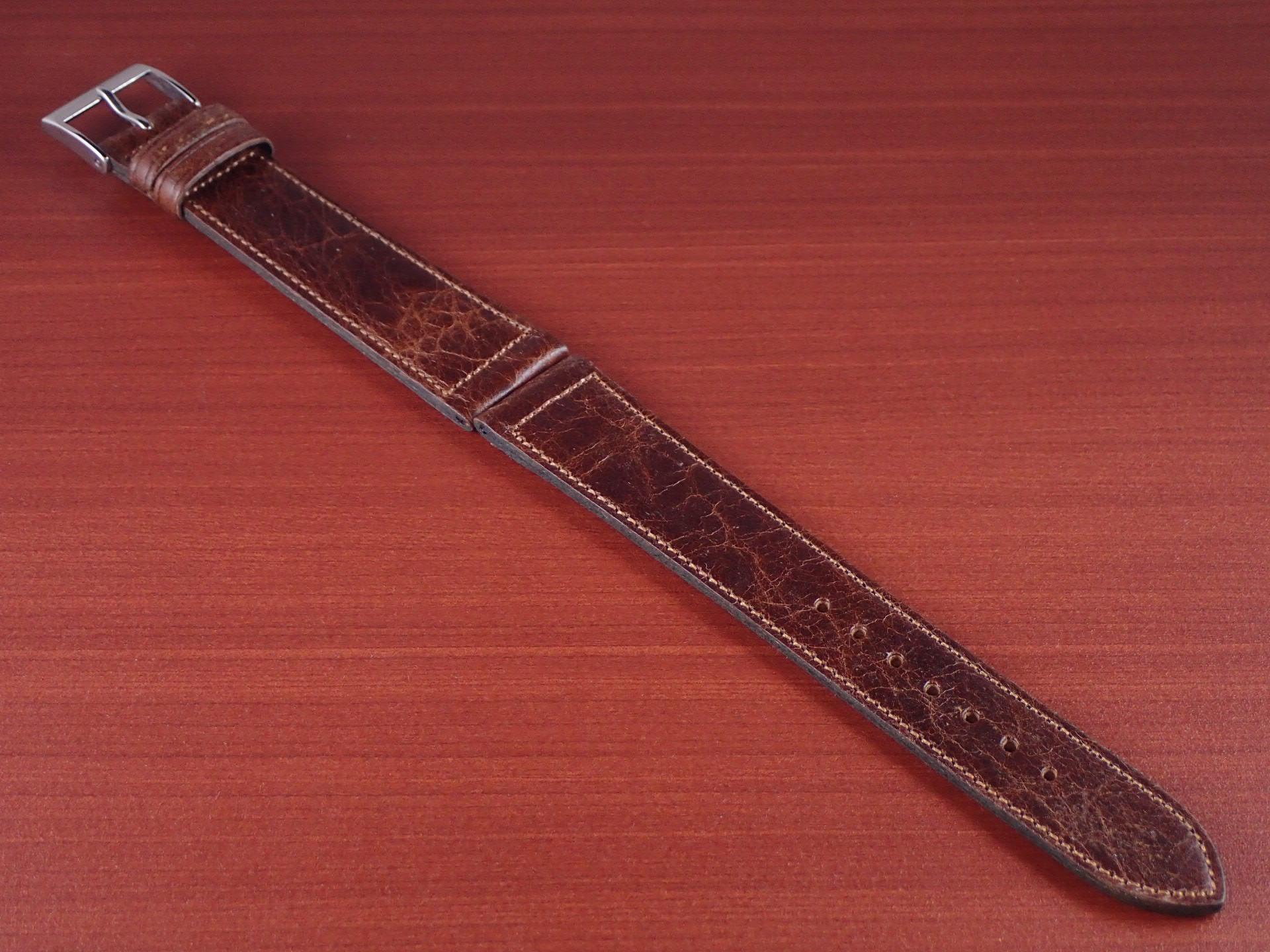 ヴィンテージレザー 牛革ベルト ブラウン 16mmのメイン写真