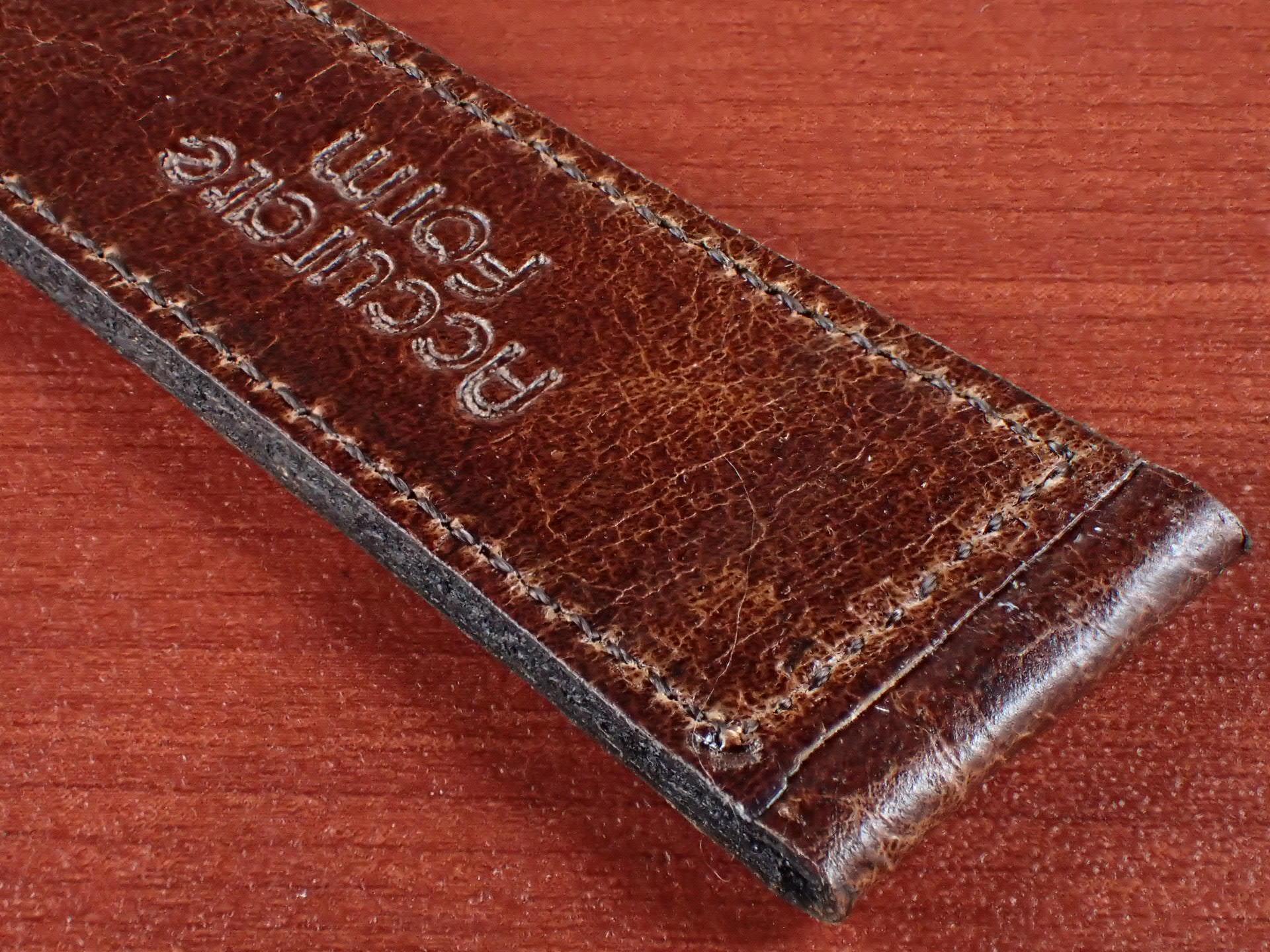 ヴィンテージレザー 牛革ベルト ブラウン 16mmの写真6枚目