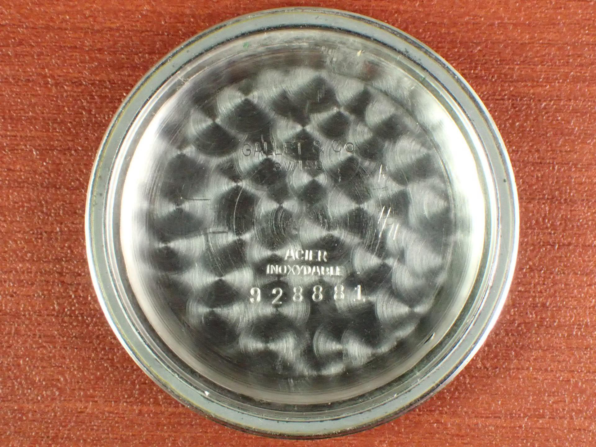 ギャレット クロノグラフ エクセルシオパーク40-68 ホワイトダイアル 1960年代の写真6枚目