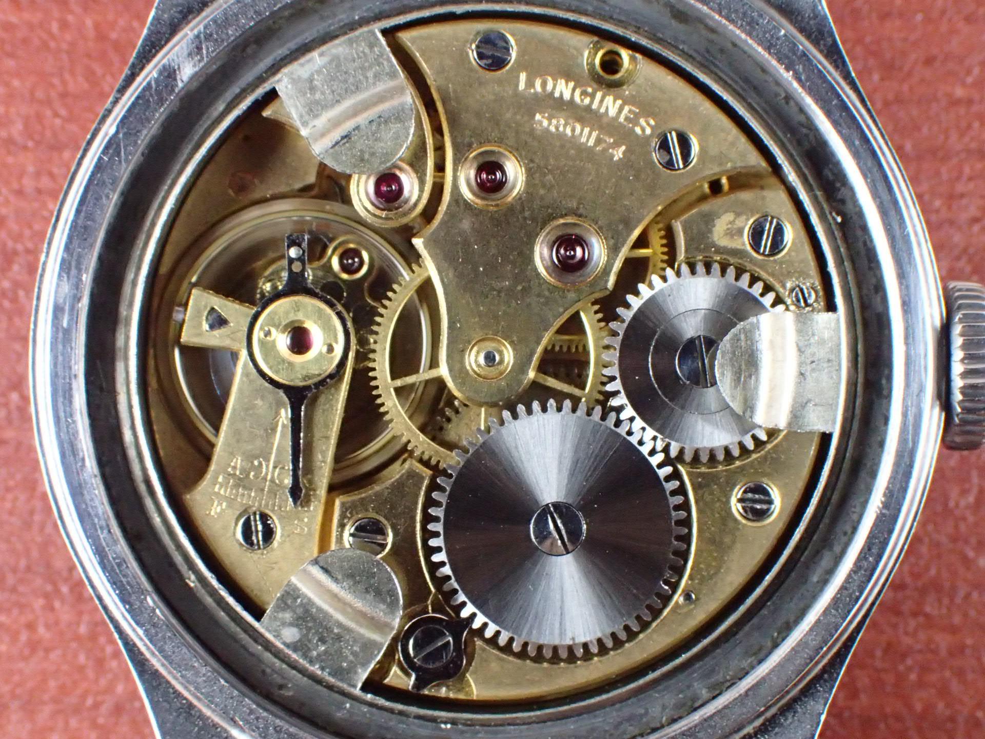 ロンジン ワイドステップベゼル 35mm トレタケ セクターダイアル 1930年代の写真5枚目