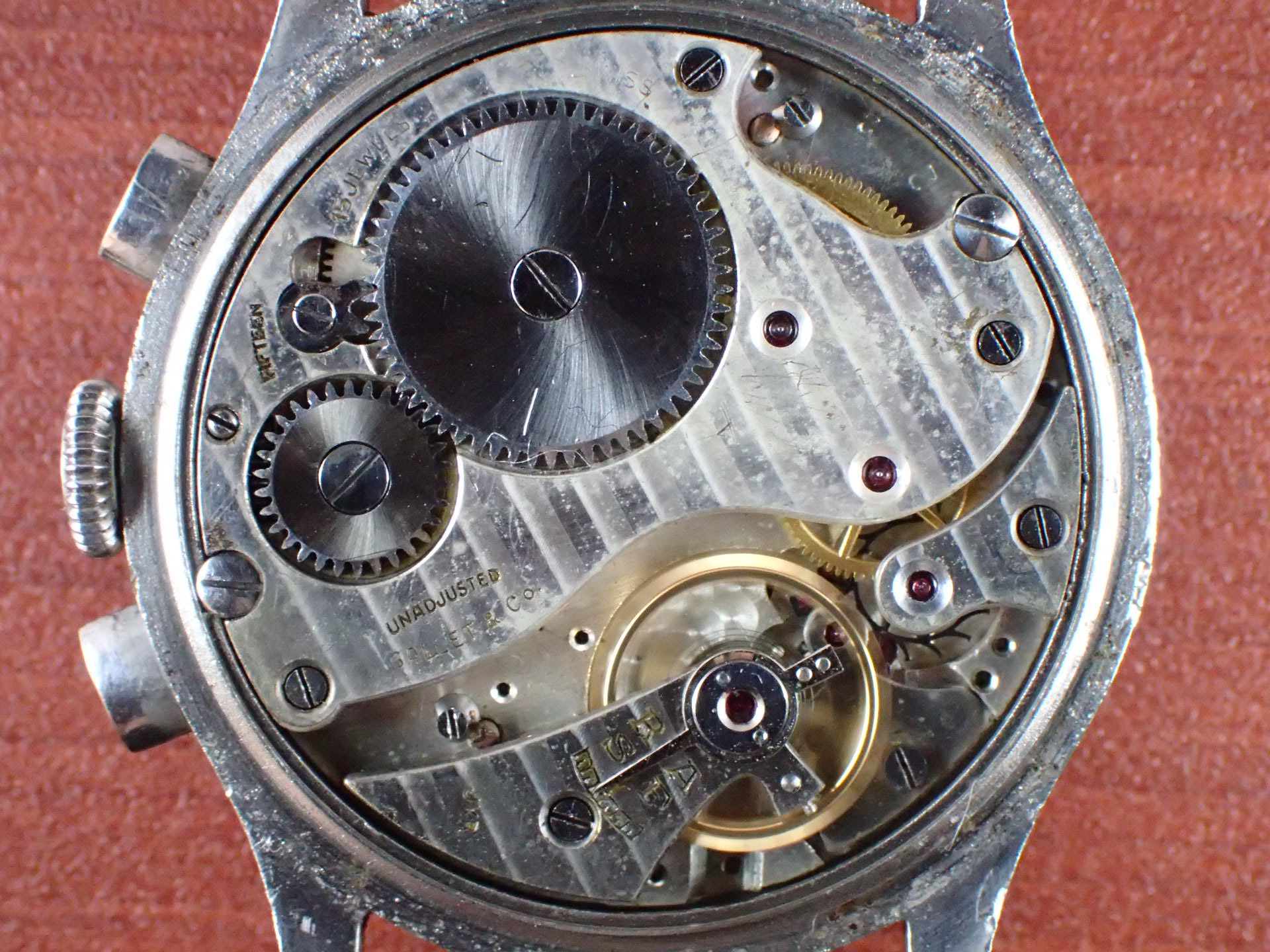 ギャレット マルチクロン レギュレーター ヴィーナス140 タキメーター 1940年代の写真5枚目