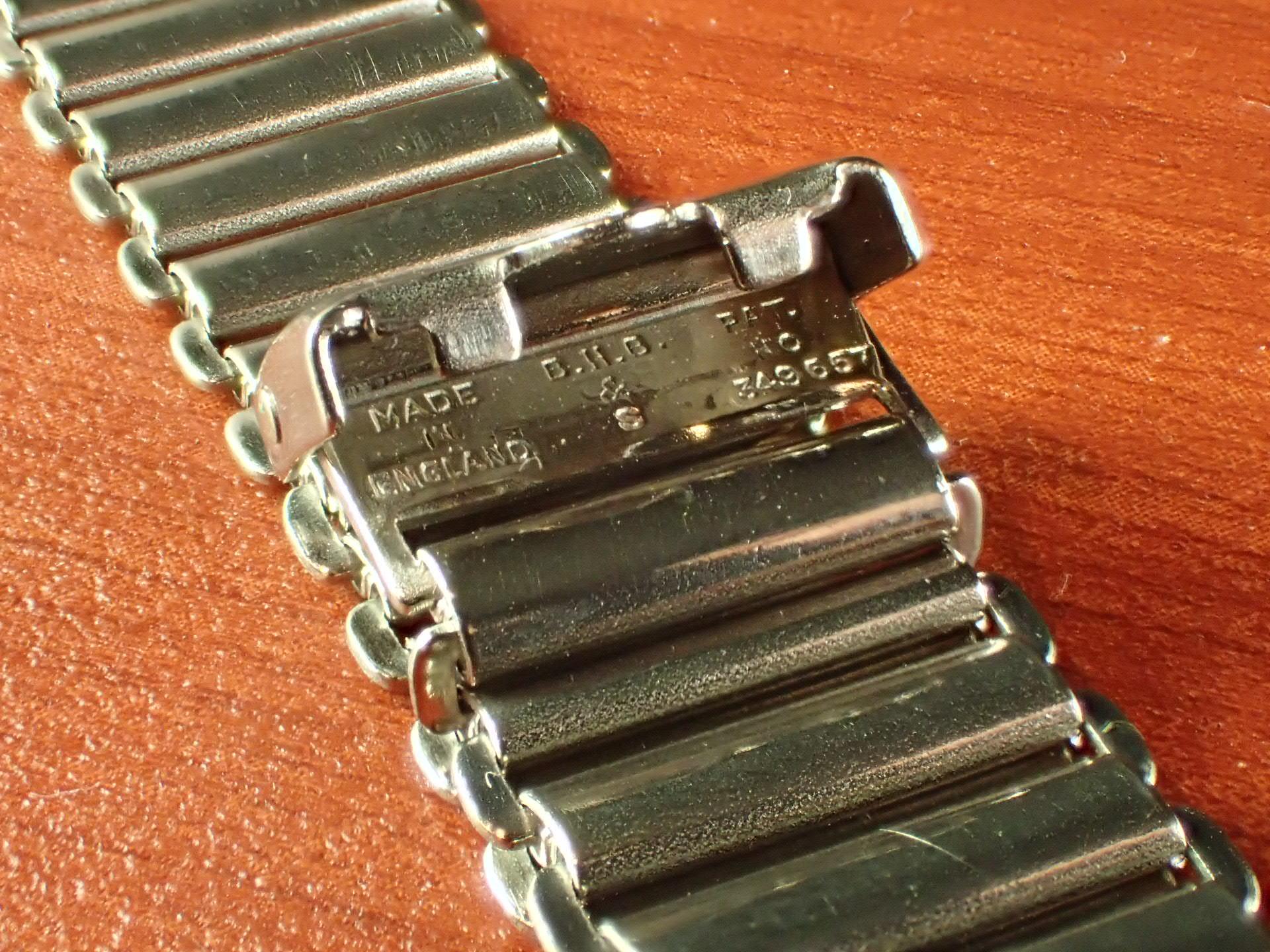 ボンクリップ バンブーブレス NOS リンク13mm 取付20mm SS 1940年代の写真3枚目