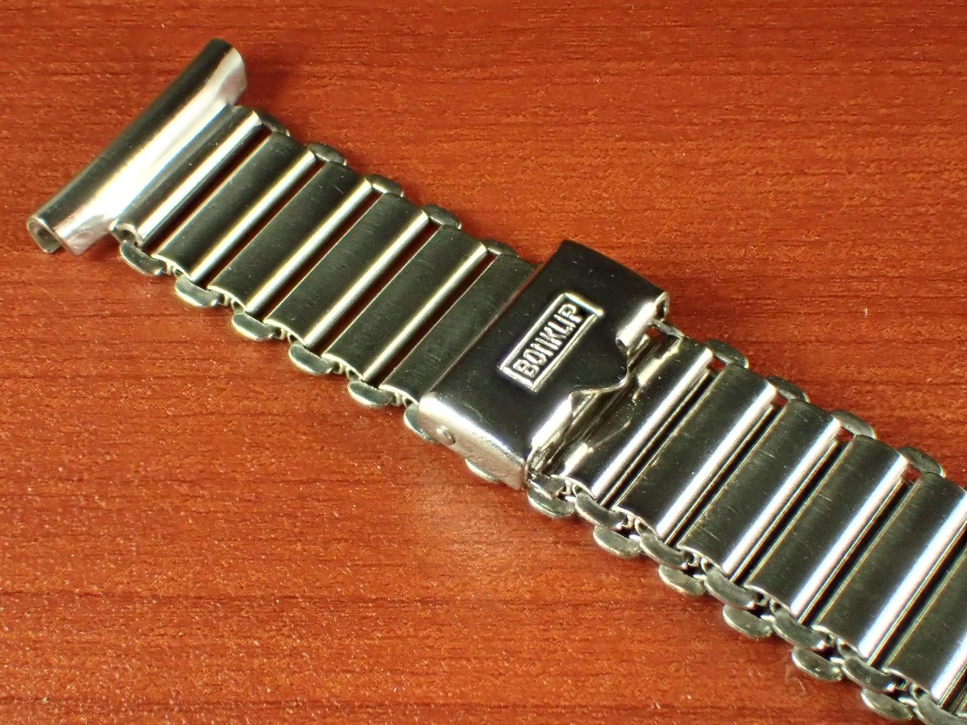ボンクリップ バンブーブレス NOS リンク13mm 取付16mm Rエンド SS 1940年代の写真2枚目