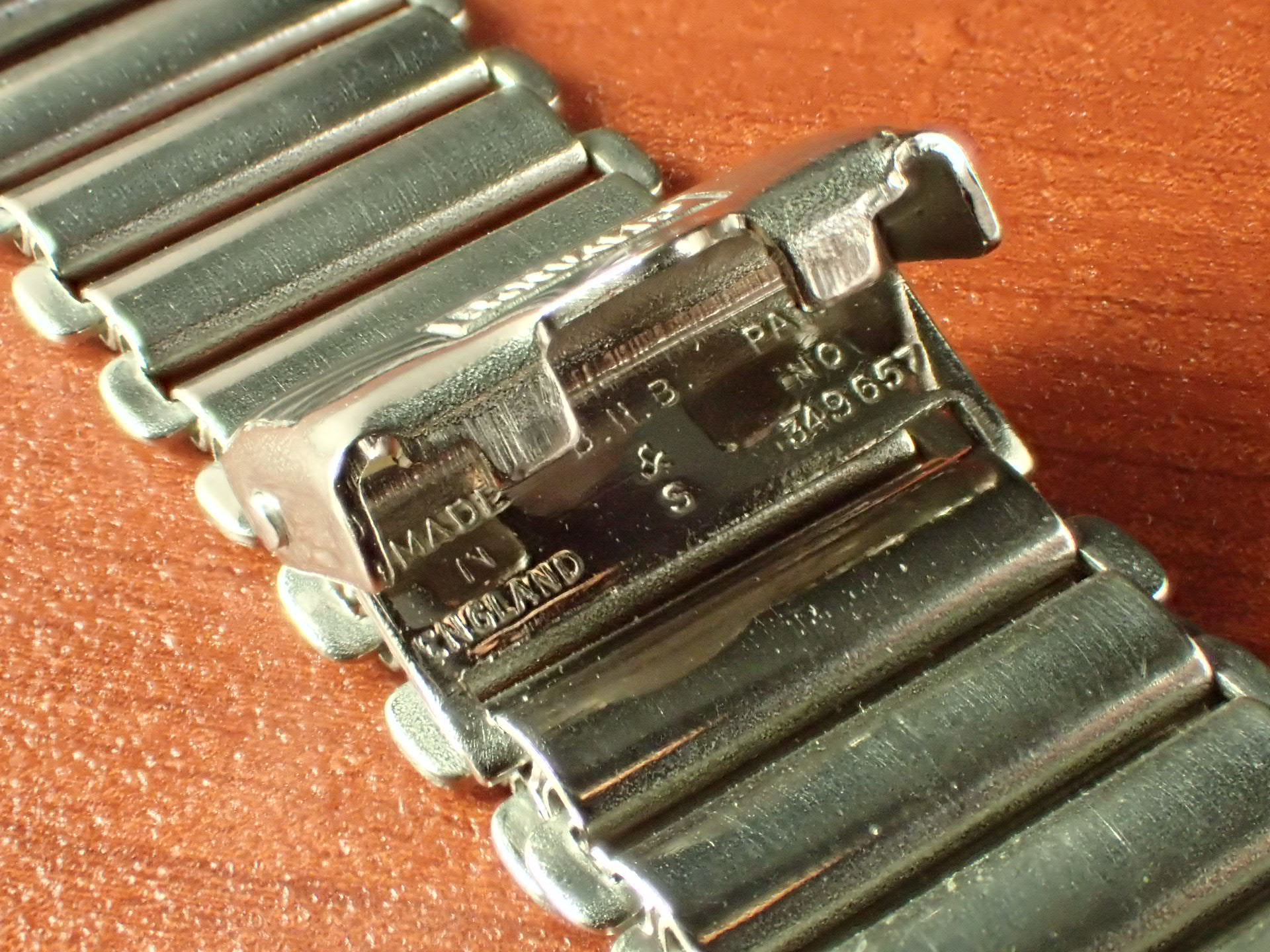 ボンクリップ バンブーブレス NOS リンク13mm 取付16mm Rエンド SS 1940年代の写真3枚目