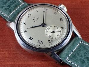 オメガ キャリバーR17.8 ローマンインデックス スクリューバック 1940年代