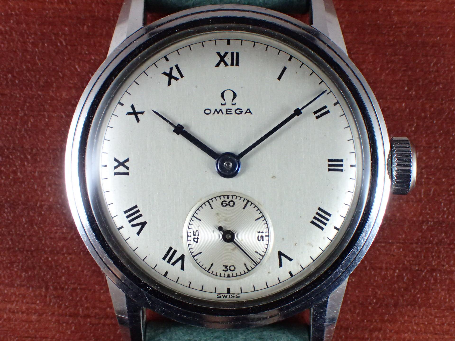 オメガ キャリバーR17.8 ローマンインデックス スクリューバック 1940年代の写真2枚目