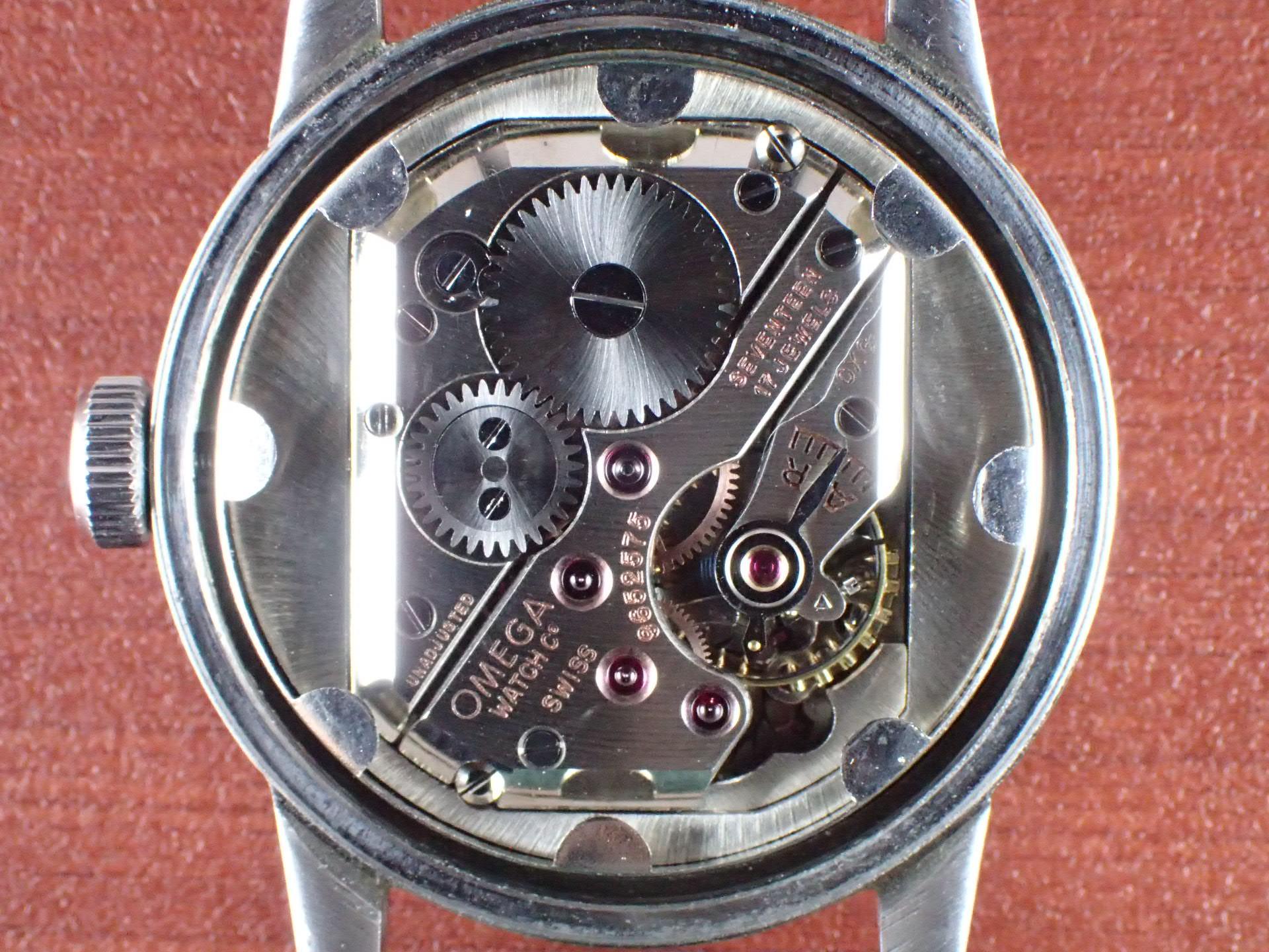 オメガ キャリバーR17.8 ローマンインデックス スクリューバック 1940年代の写真5枚目