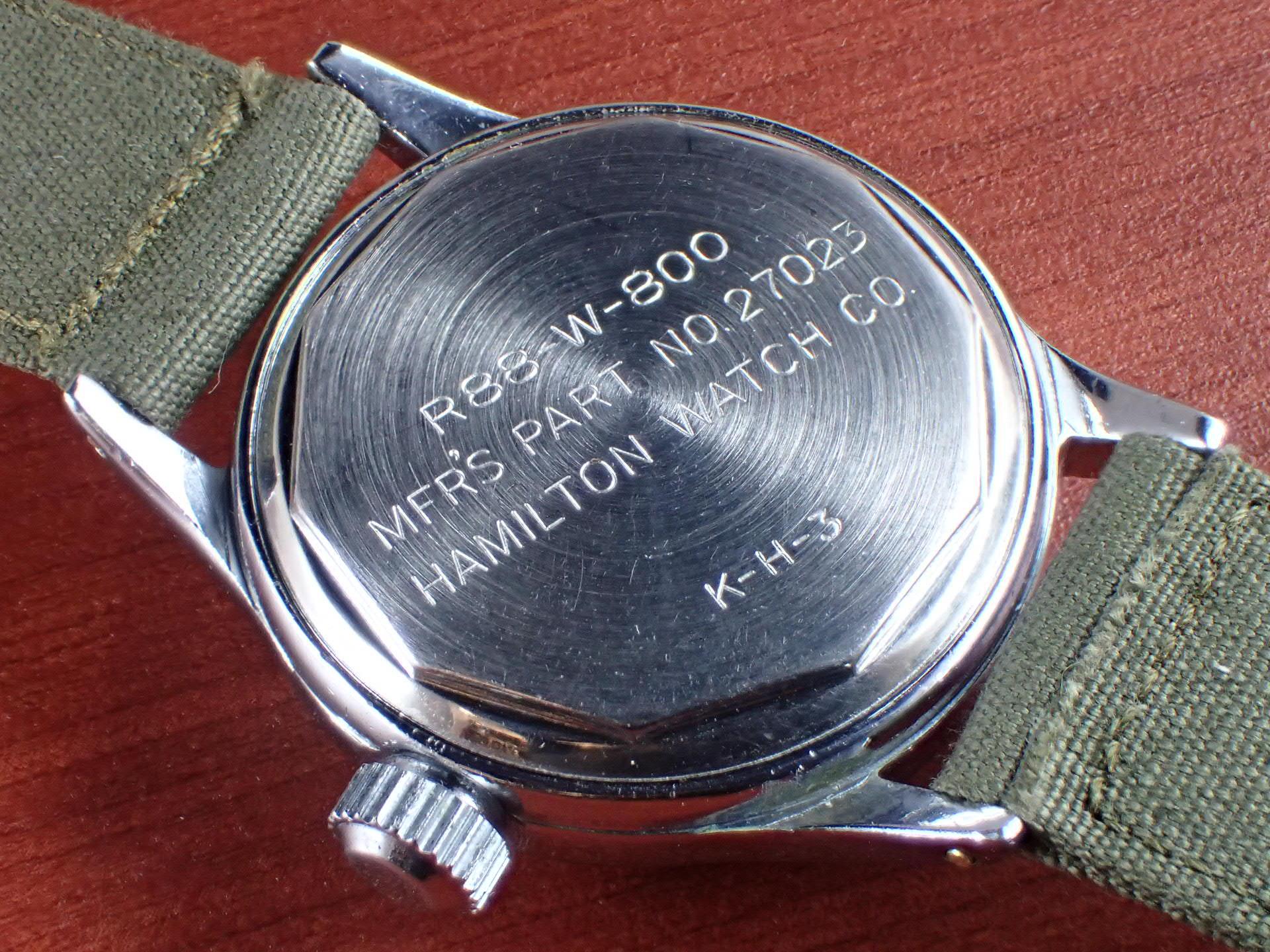 ハミルトン 米海軍 R88-W-800 スモールセコンド 第二次世界大戦 1940年代の写真4枚目