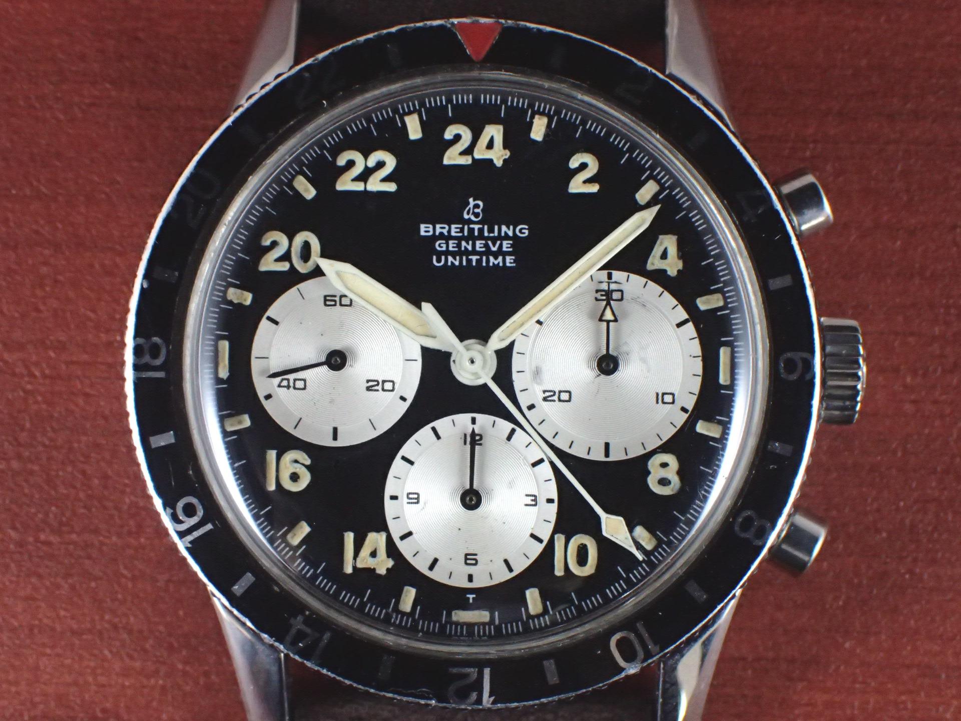ブライトリング ユニタイム Ref.1765 パイロットウォッチ 1960年代の写真2枚目