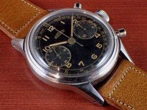 アンジェラス クロノグラフ キャリバー215 ブラックミラーダイアル 1940年代