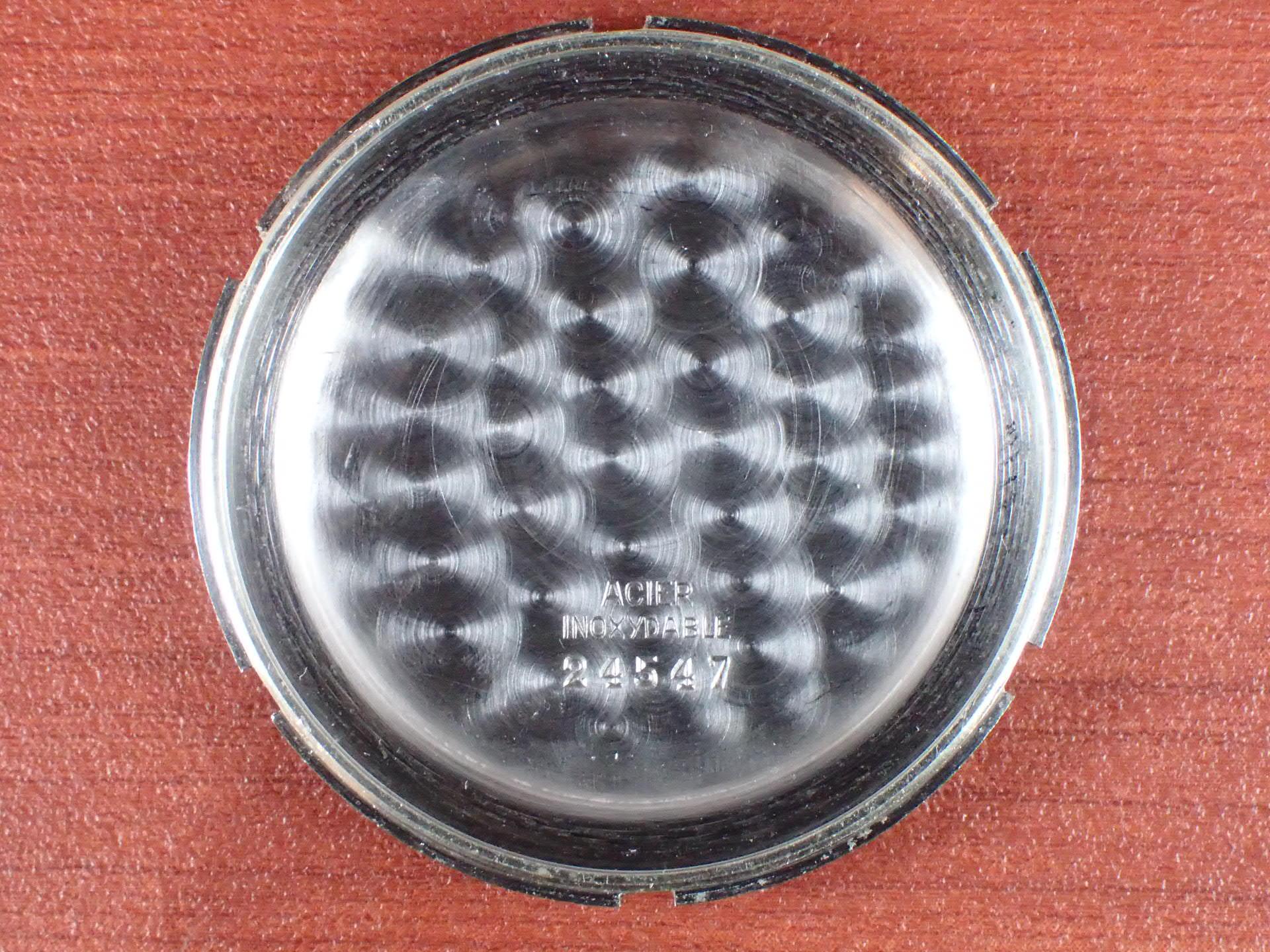 ミルディア クロノグラフ Cal.Valjoux23 ブラックミラーダイアル 1940年代の写真6枚目