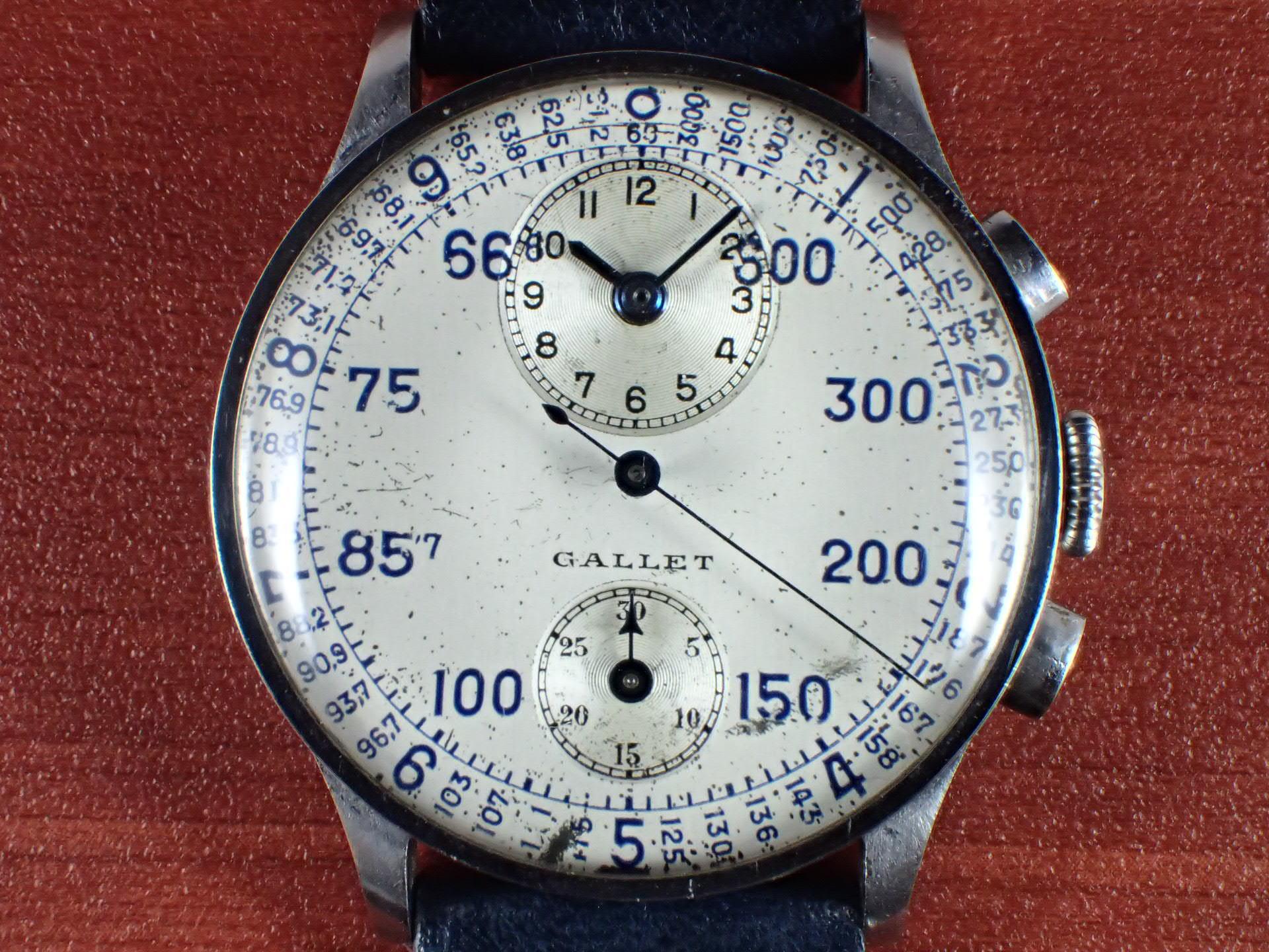 ギャレット マルチクロン レギュレーター ヴィーナス140 タキメーター 1940年代の写真2枚目