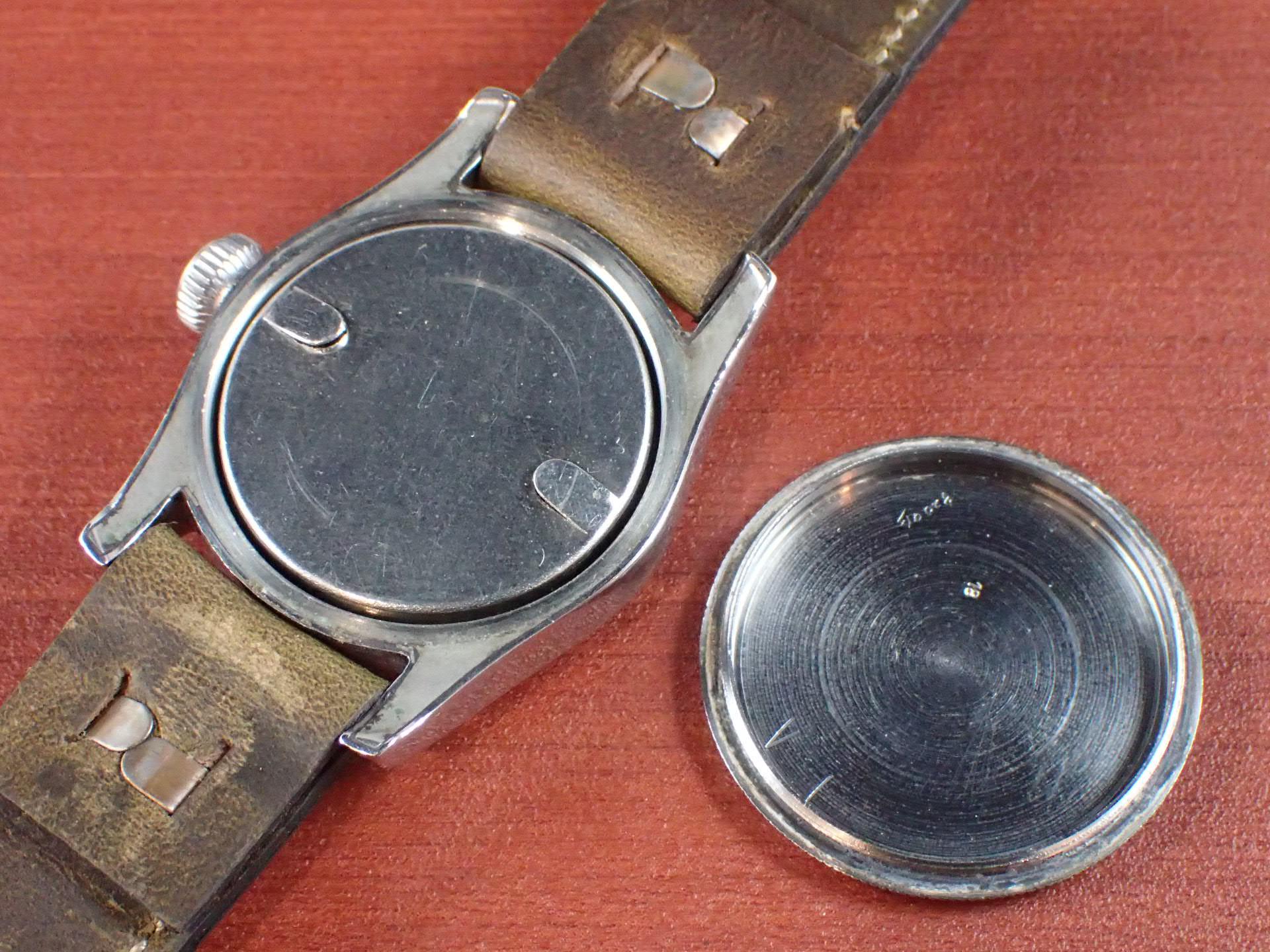 ラコ ブラックミラーダイアル ボーイズサイズ 防水ケース 1940年代の写真6枚目