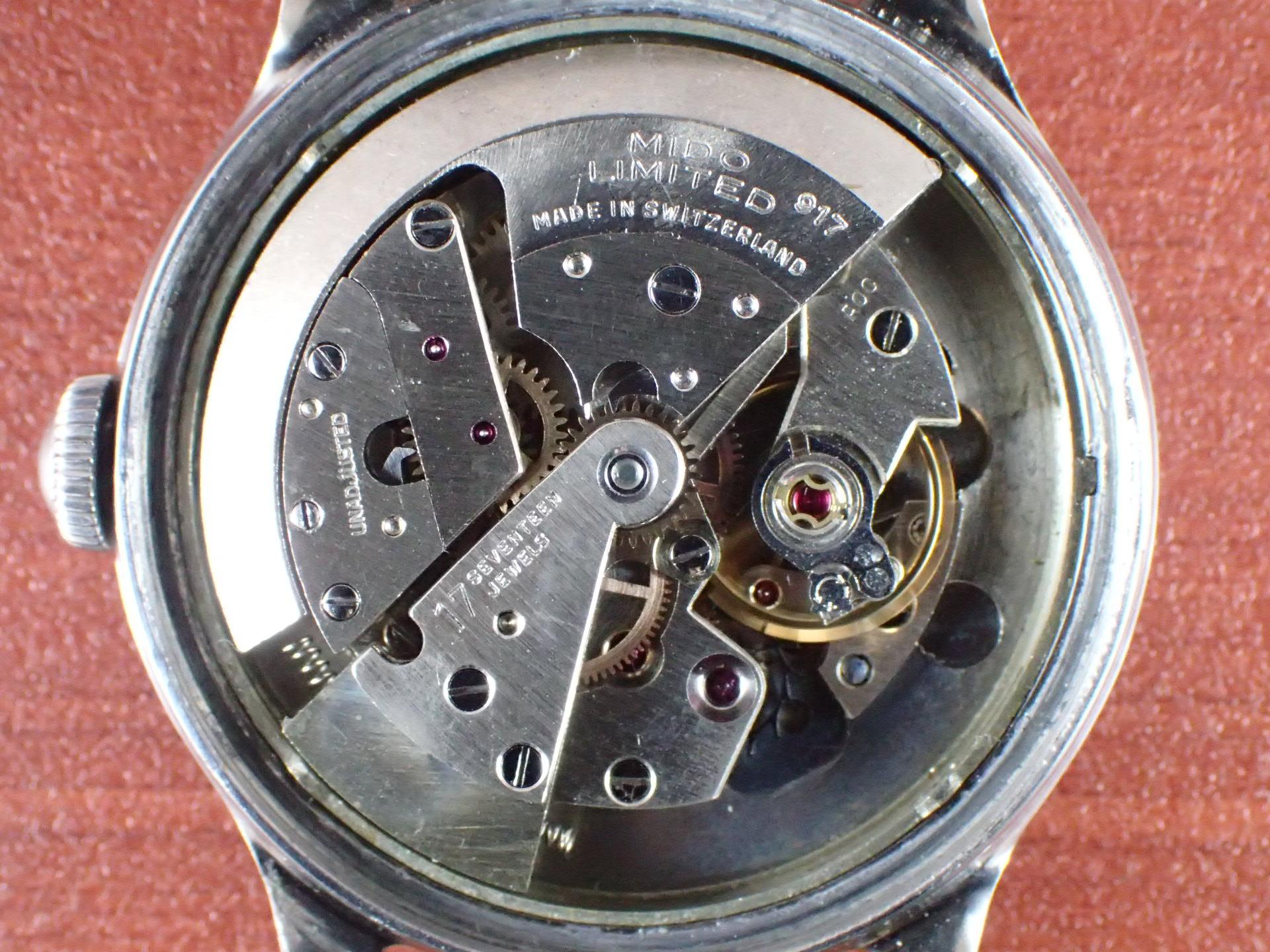 ミドー マルチフォート ラージケース 34mm 2トーンダイアル 1940年代の写真5枚目