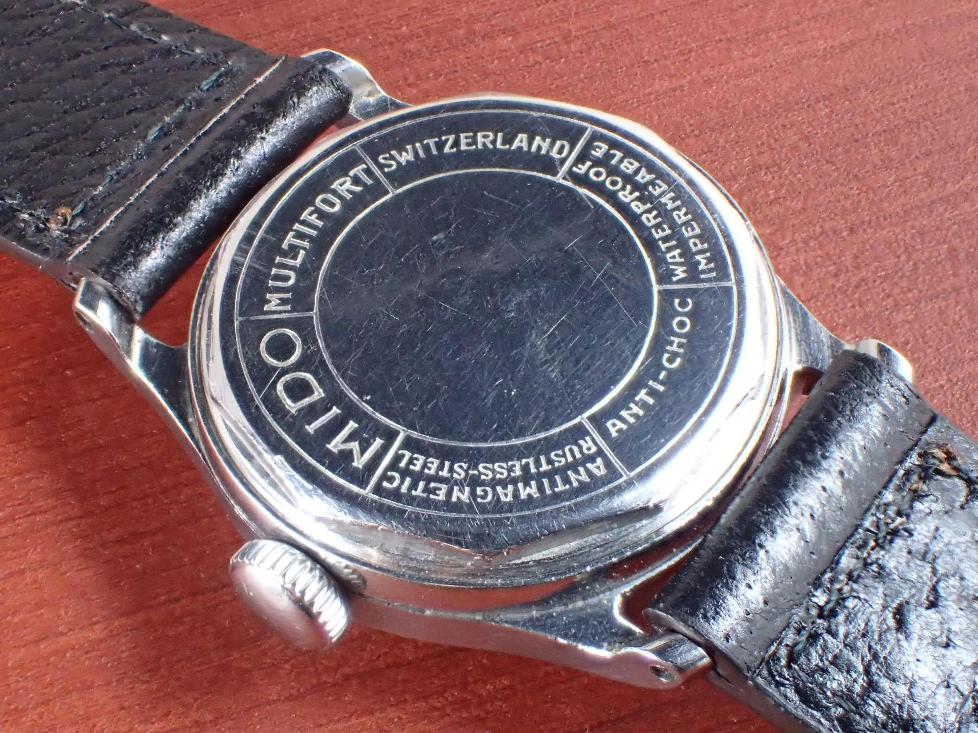 ミドー マルチフォート セクターブラックダイアル マニュアルワインド 1940年代の写真4枚目