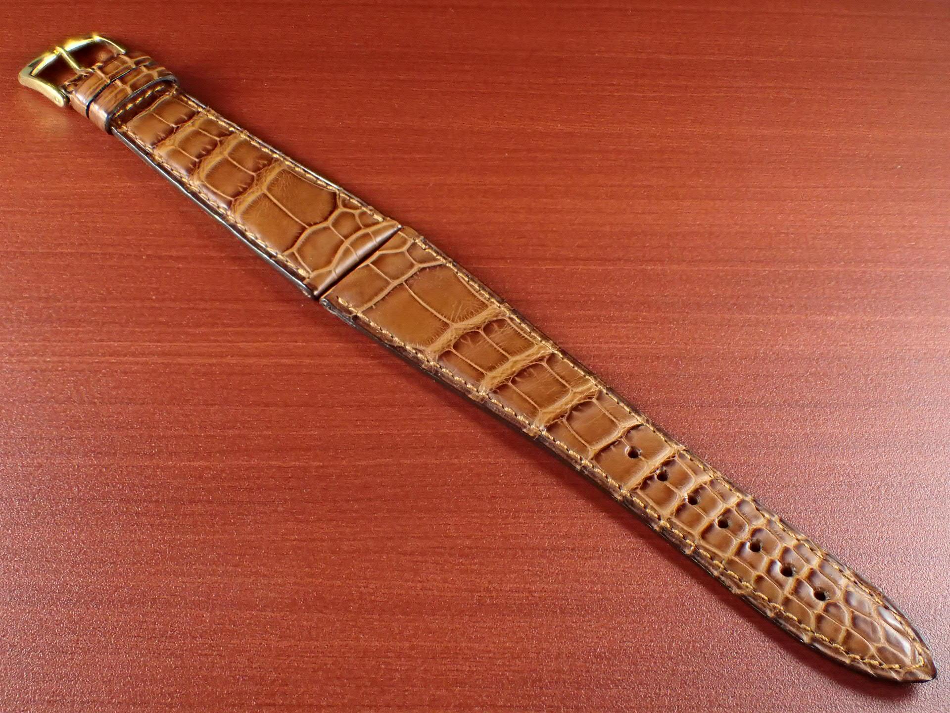 ジャン・クロード ペラン革ベルト(オールドペラン)クロコダイル キャメル 22mmのメイン写真