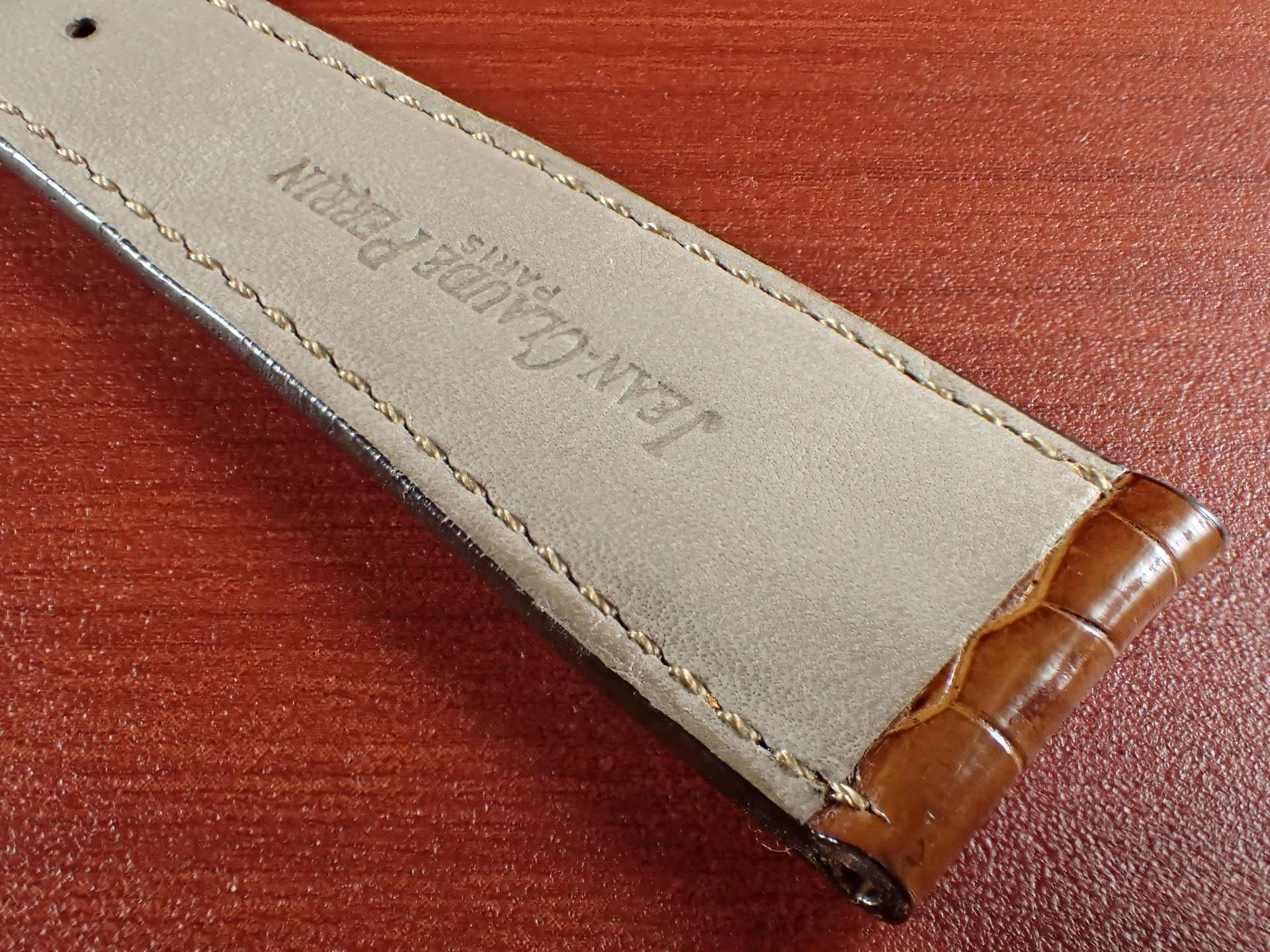ジャン・クロード ペラン革ベルト(オールドペラン)クロコダイル キャメル 22mmの写真6枚目