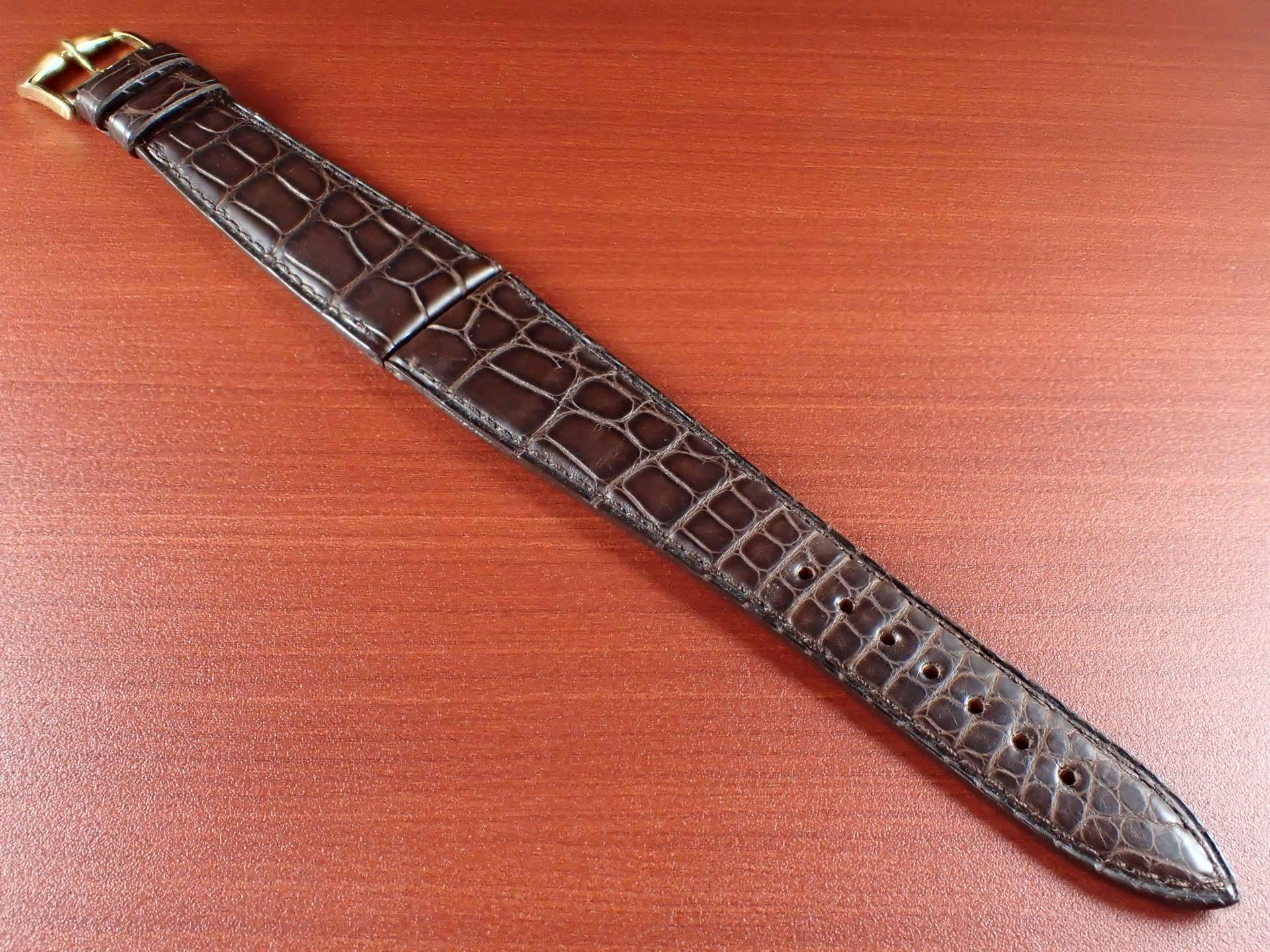 ジャン・クロード ペラン革ベルト(オールドペラン)クロコダイル ダークブラウン 22mmのメイン写真