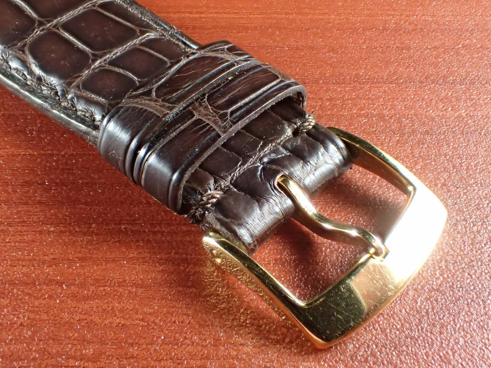 ジャン・クロード ペラン革ベルト(オールドペラン)クロコダイル ダークブラウン 22mmの写真3枚目
