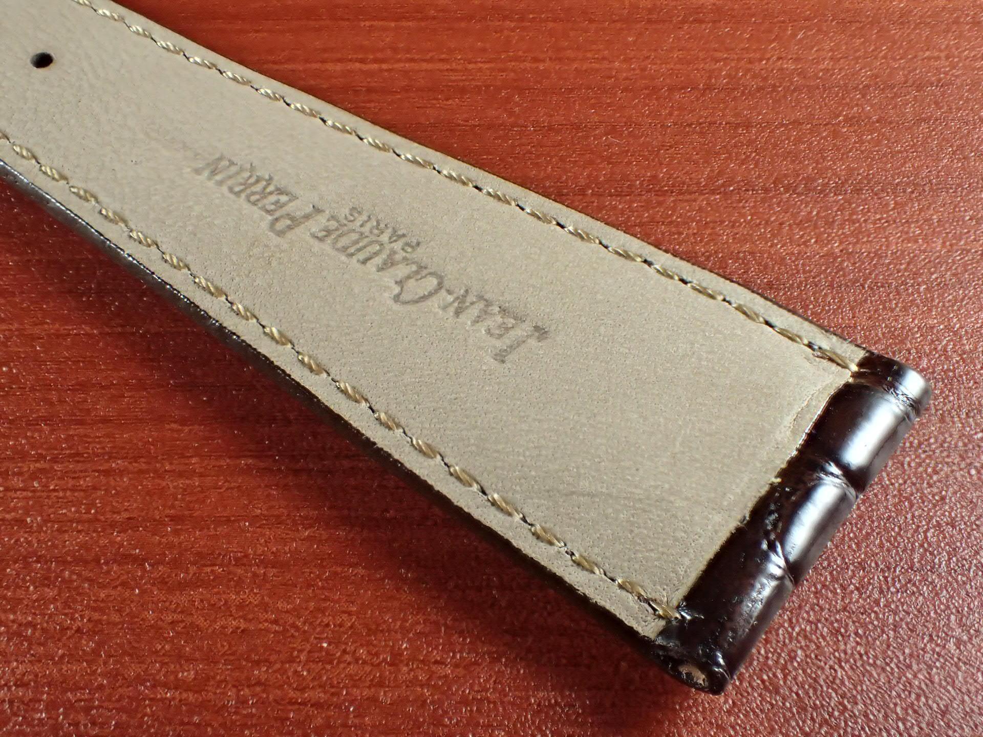 ジャン・クロード ペラン革ベルト(オールドペラン)クロコダイル ダークブラウン 22mmの写真6枚目