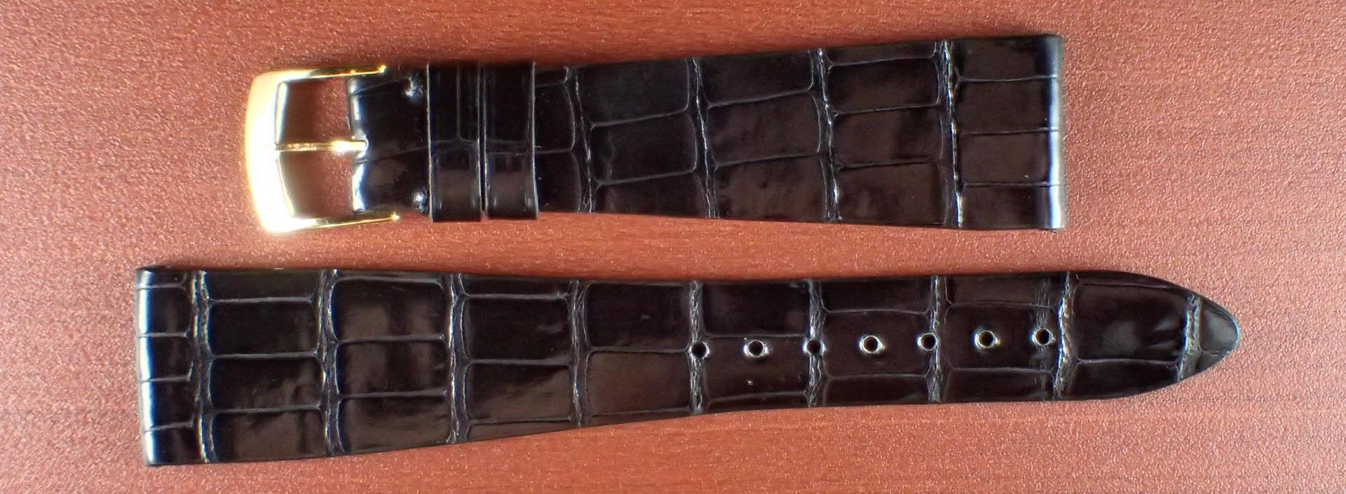 ジャン・クロード ペラン革ベルト(オールドペラン)クロコダイル ブラック 20mm