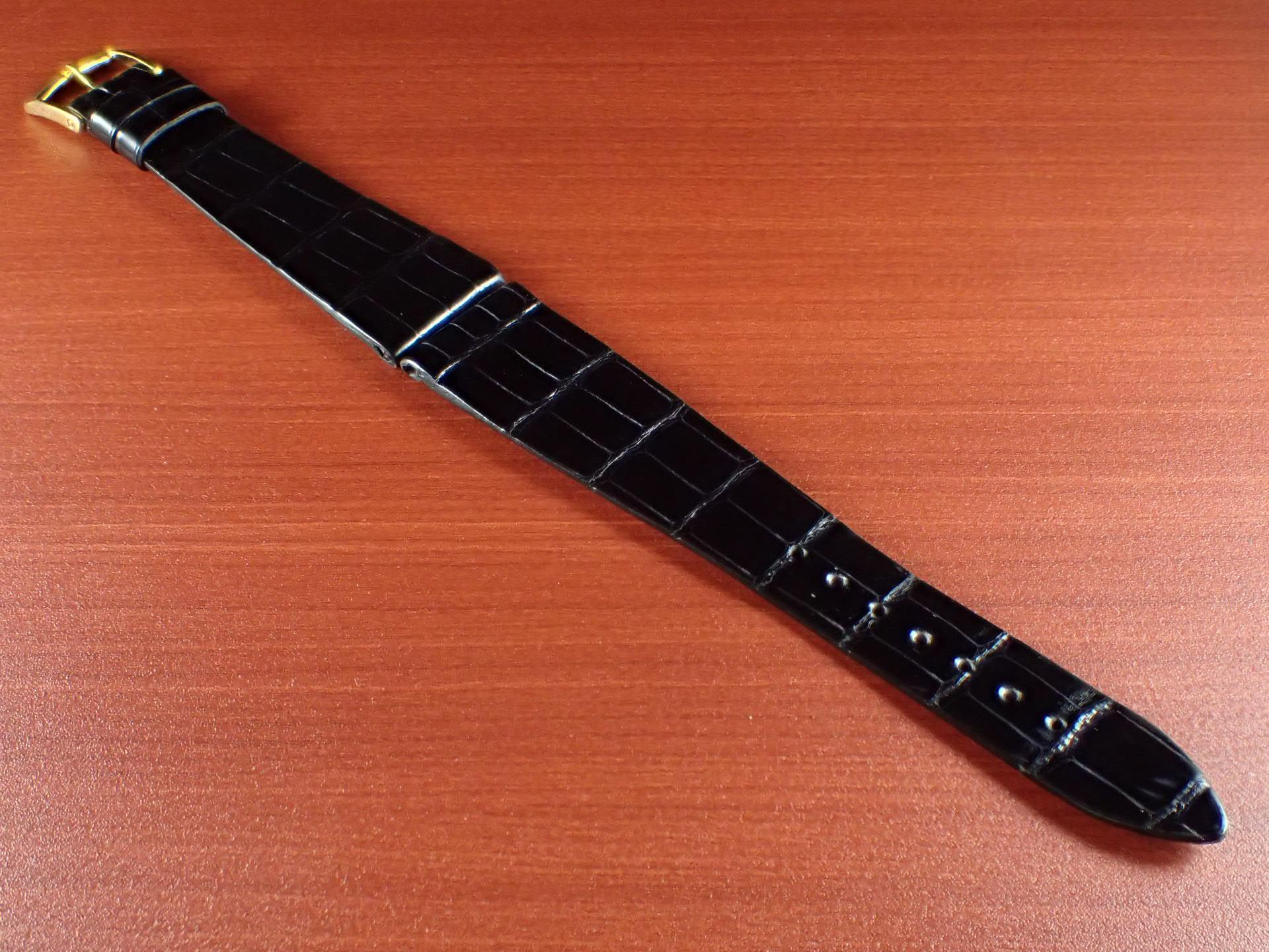 ジャン・クロード ペラン革ベルト(オールドペラン)クロコダイル ブラック 20mmのメイン写真