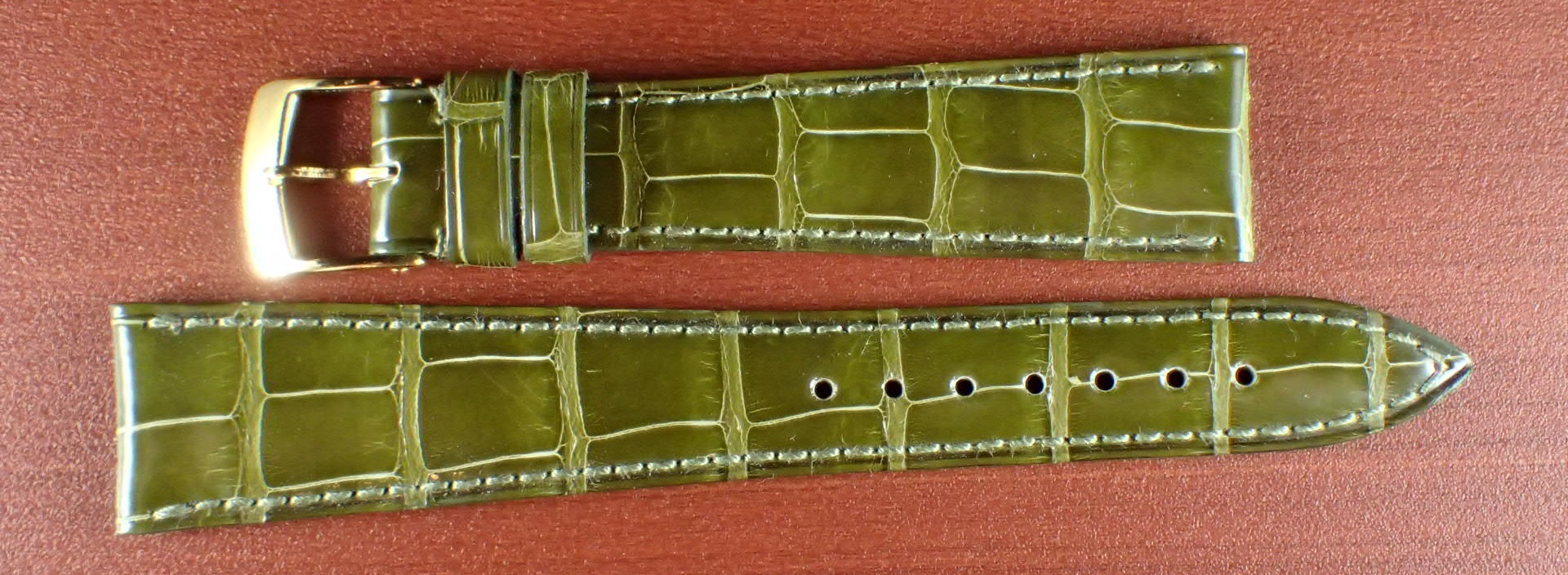 ジャン・クロード ペラン革ベルト(オールドペラン)クロコダイル ライトグリーン 19mm