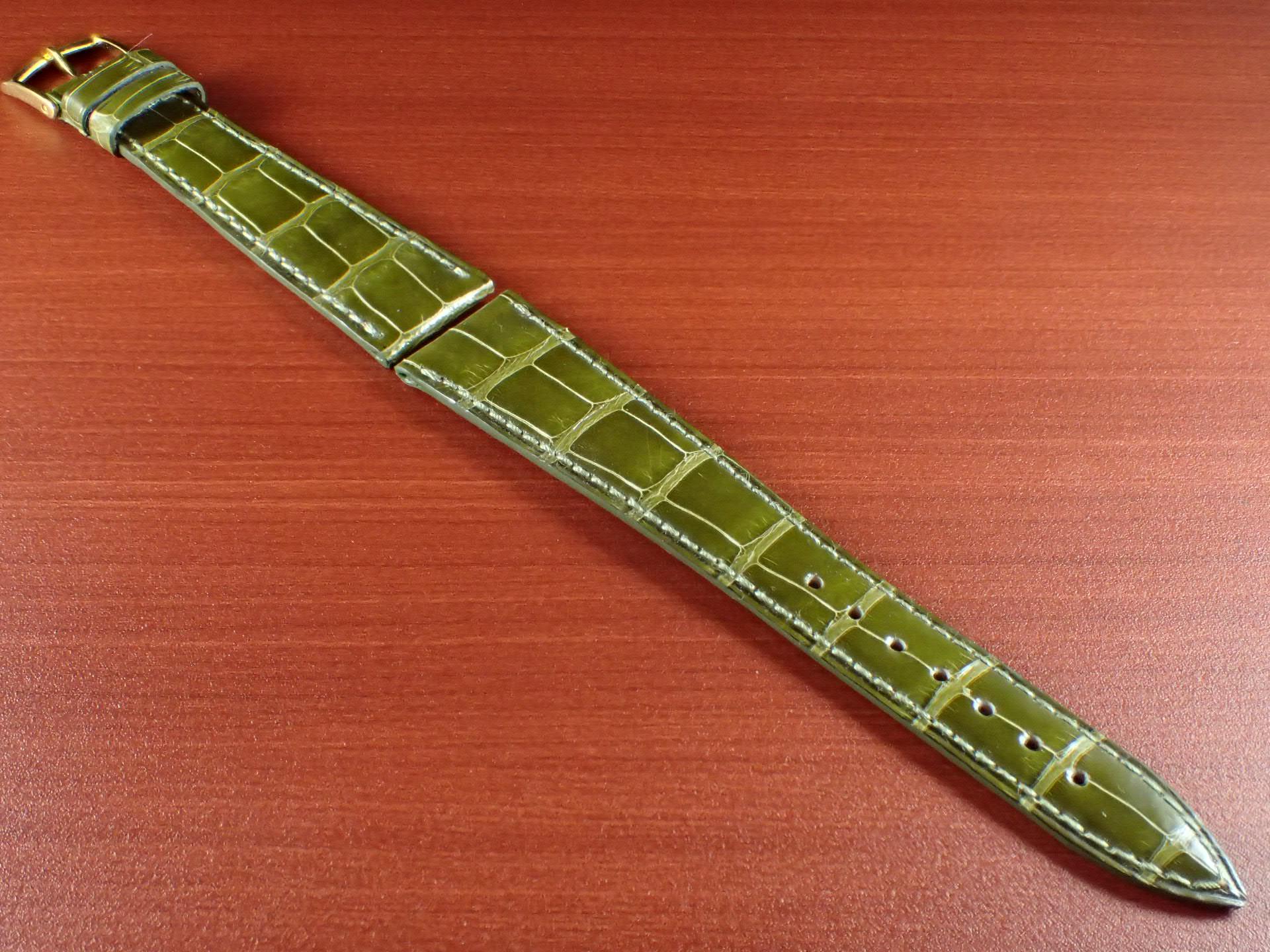 ジャン・クロード ペラン革ベルト(オールドペラン)クロコダイル ライトグリーン 19mmのメイン写真