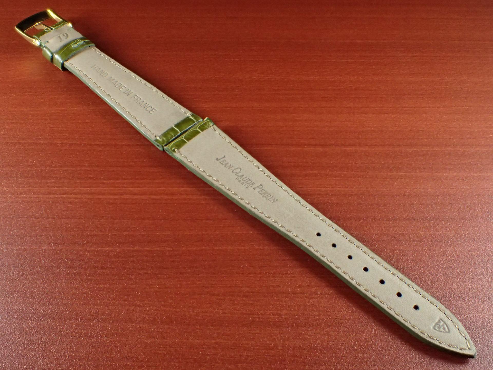 ジャン・クロード ペラン革ベルト(オールドペラン)クロコダイル ライトグリーン 19mmの写真2枚目