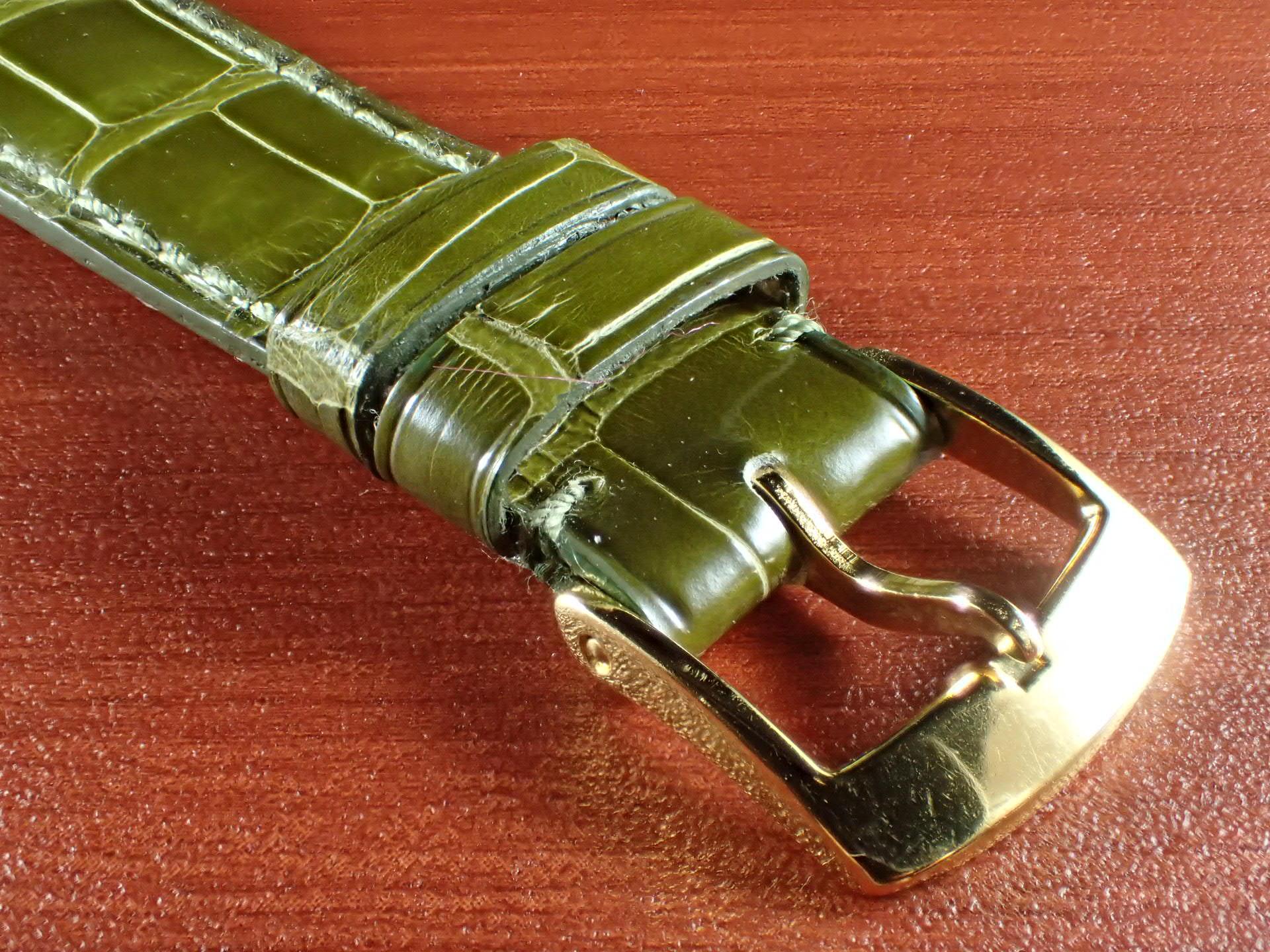 ジャン・クロード ペラン革ベルト(オールドペラン)クロコダイル ライトグリーン 19mmの写真3枚目