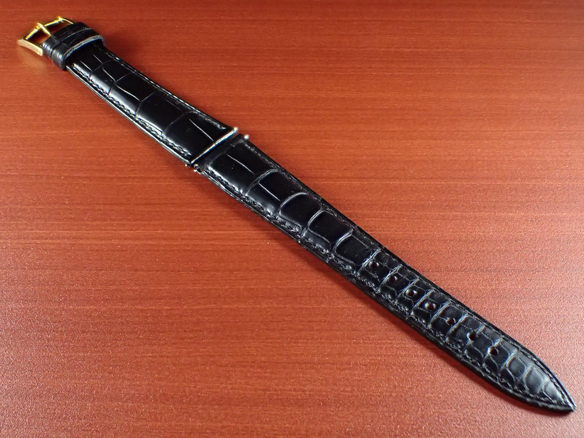 ジャン・クロード ペラン革ベルト(オールドペラン)クロコダイル ブラック 17mm 手縫いのメイン写真