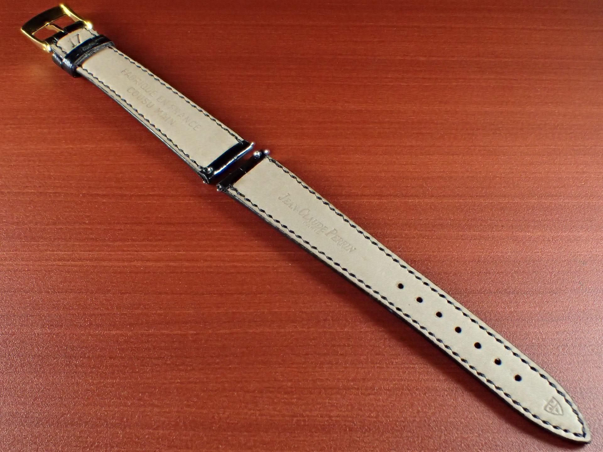 ジャン・クロード ペラン革ベルト(オールドペラン)クロコダイル ブラック 17mm 手縫いの写真2枚目