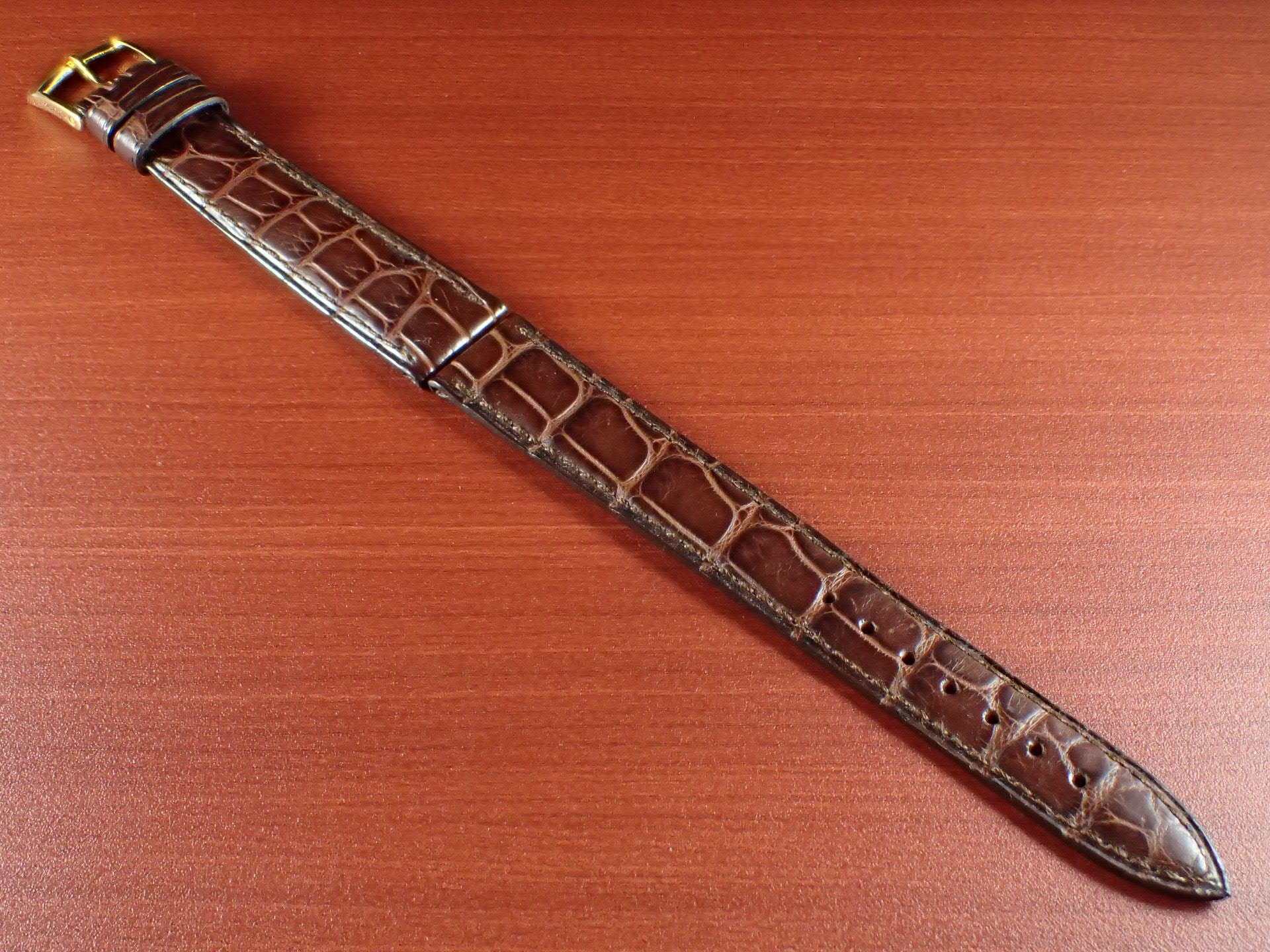 ジャン・クロード ペラン革ベルト(オールドぺラン)クロコダイル ダークブラウン 16mmのメイン写真