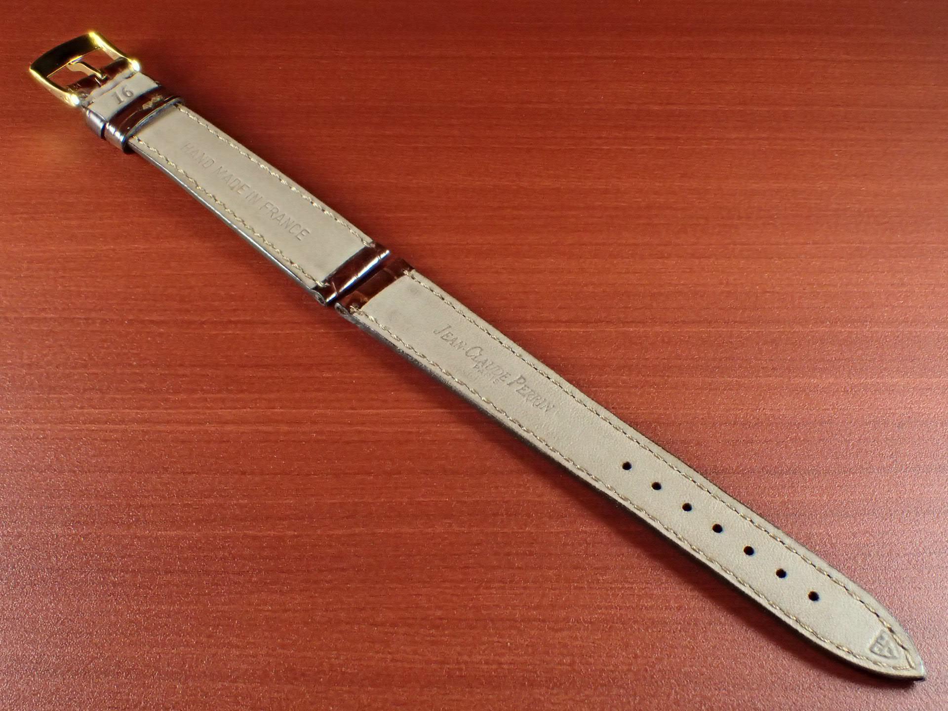 ジャン・クロード ペラン革ベルト(オールドぺラン)クロコダイル ダークブラウン 16mmの写真2枚目