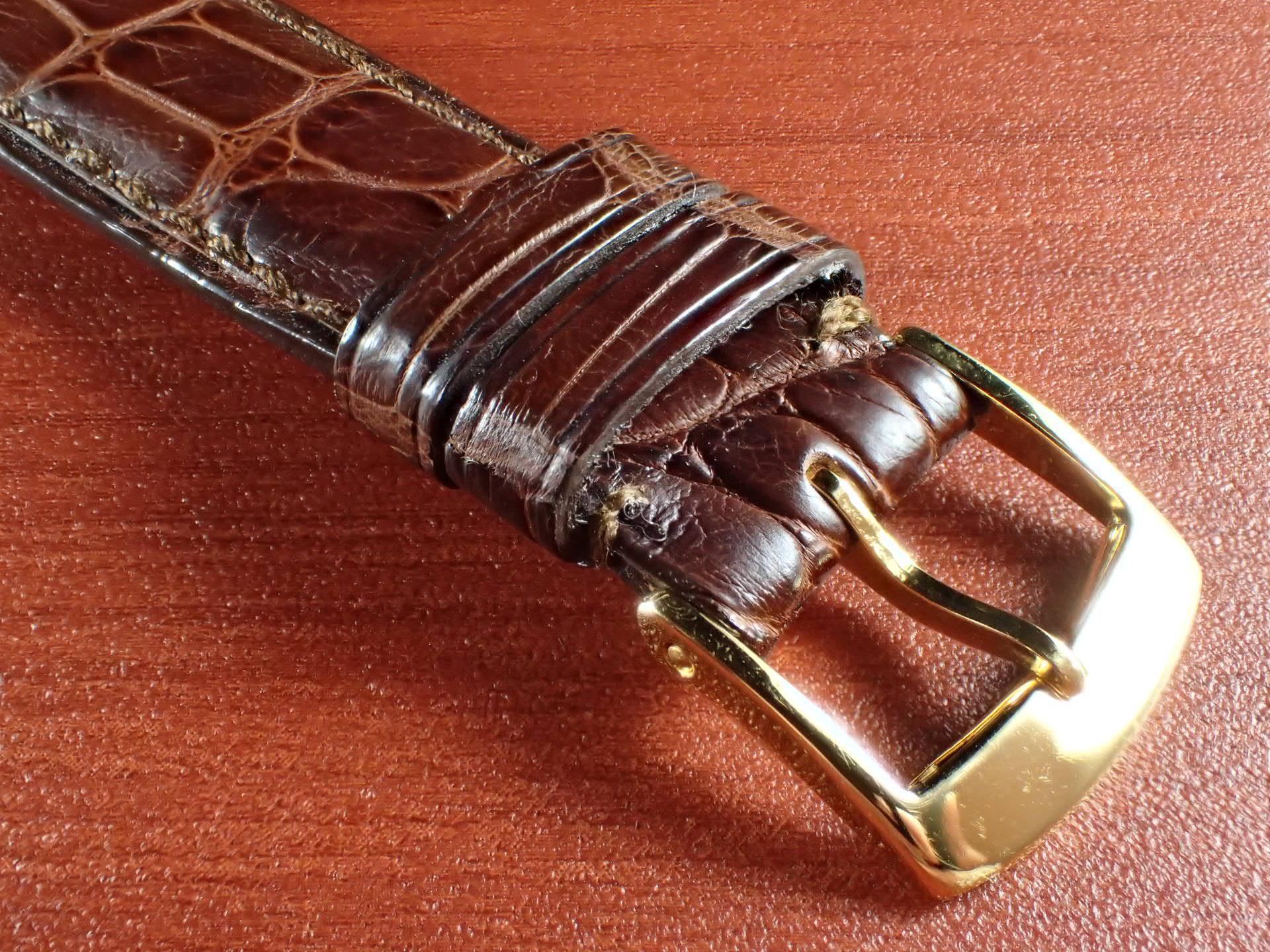 ジャン・クロード ペラン革ベルト(オールドぺラン)クロコダイル ダークブラウン 16mmの写真3枚目