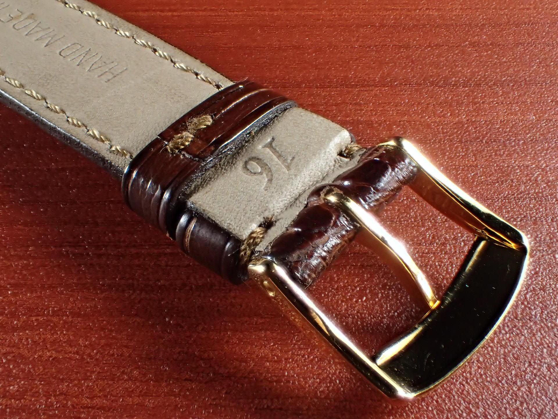ジャン・クロード ペラン革ベルト(オールドぺラン)クロコダイル ダークブラウン 16mmの写真4枚目