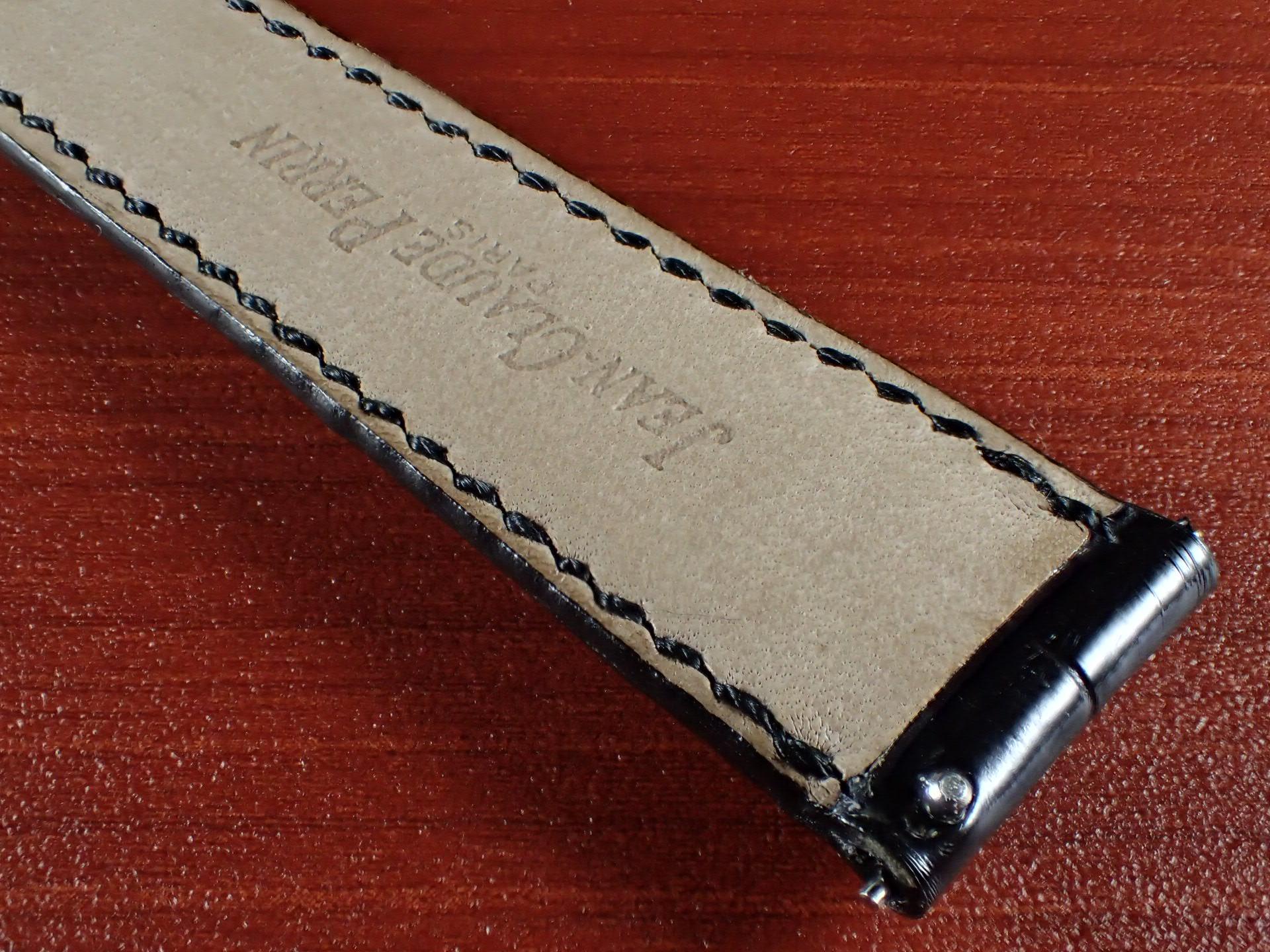 ジャン・クロード ペラン革ベルト(オールドペラン)クロコダイル ブラック 17mm 手縫いの写真6枚目
