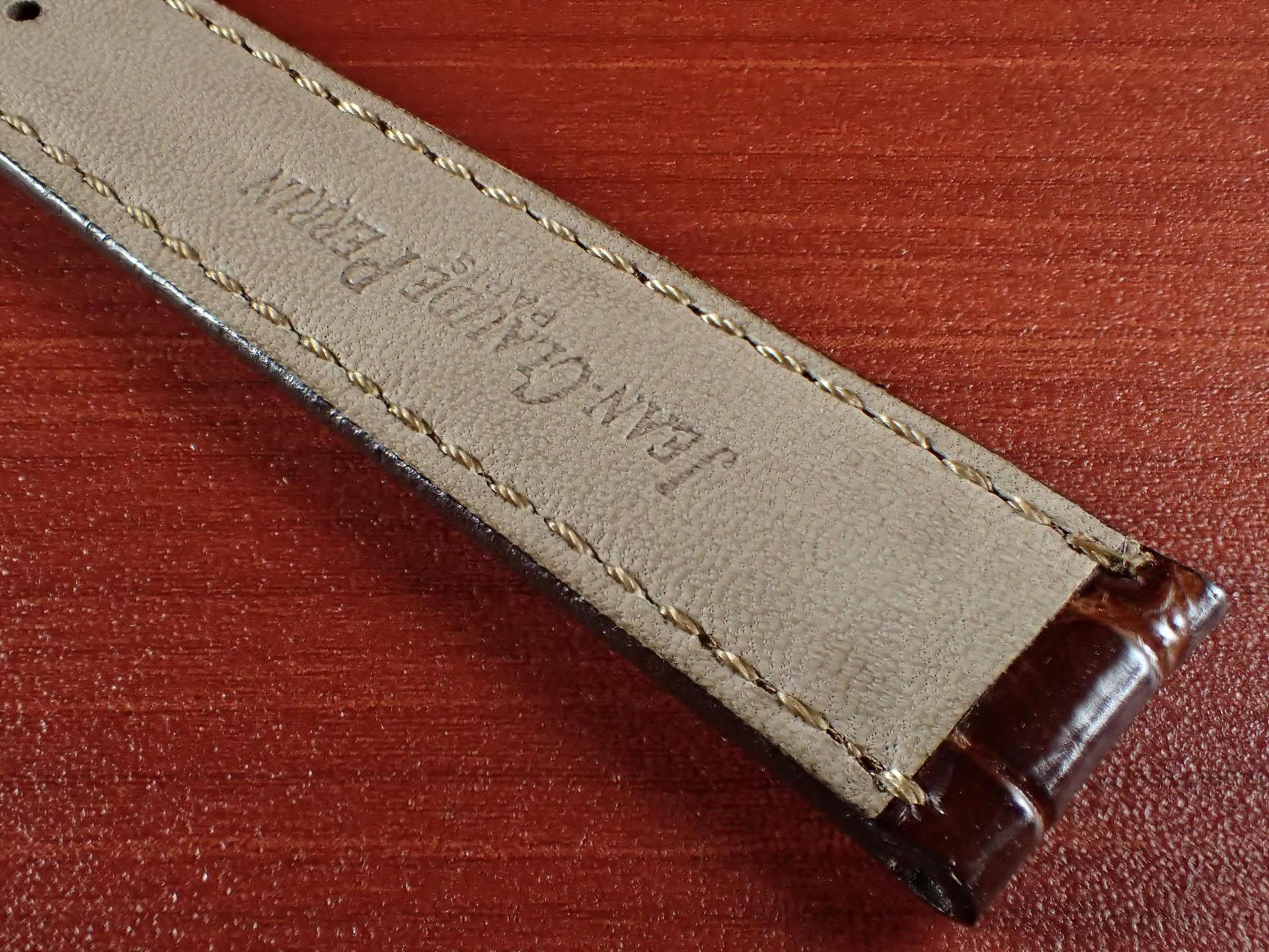 ジャン・クロード ペラン革ベルト(オールドぺラン)クロコダイル ダークブラウン 16mmの写真6枚目