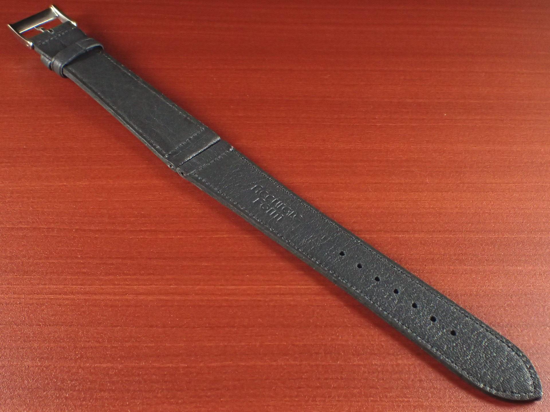 ヴィンテージレザー 牛革ベルト ブルーグレー 18mm、20mmの写真2枚目