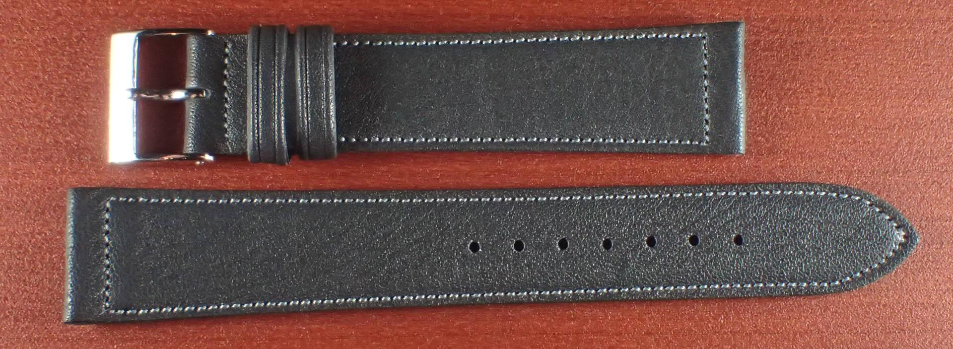 ヴィンテージレザー 牛革ベルト ブルーグレー 18mm、20mm
