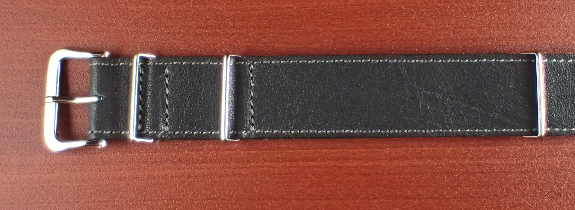 ヴィンテージレザー 牛革ベルト ブルーグレー NATO G10 20mm