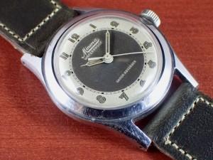 ミネルバ キャリバー49 2トーンダイアル スクリューバック 1940年代